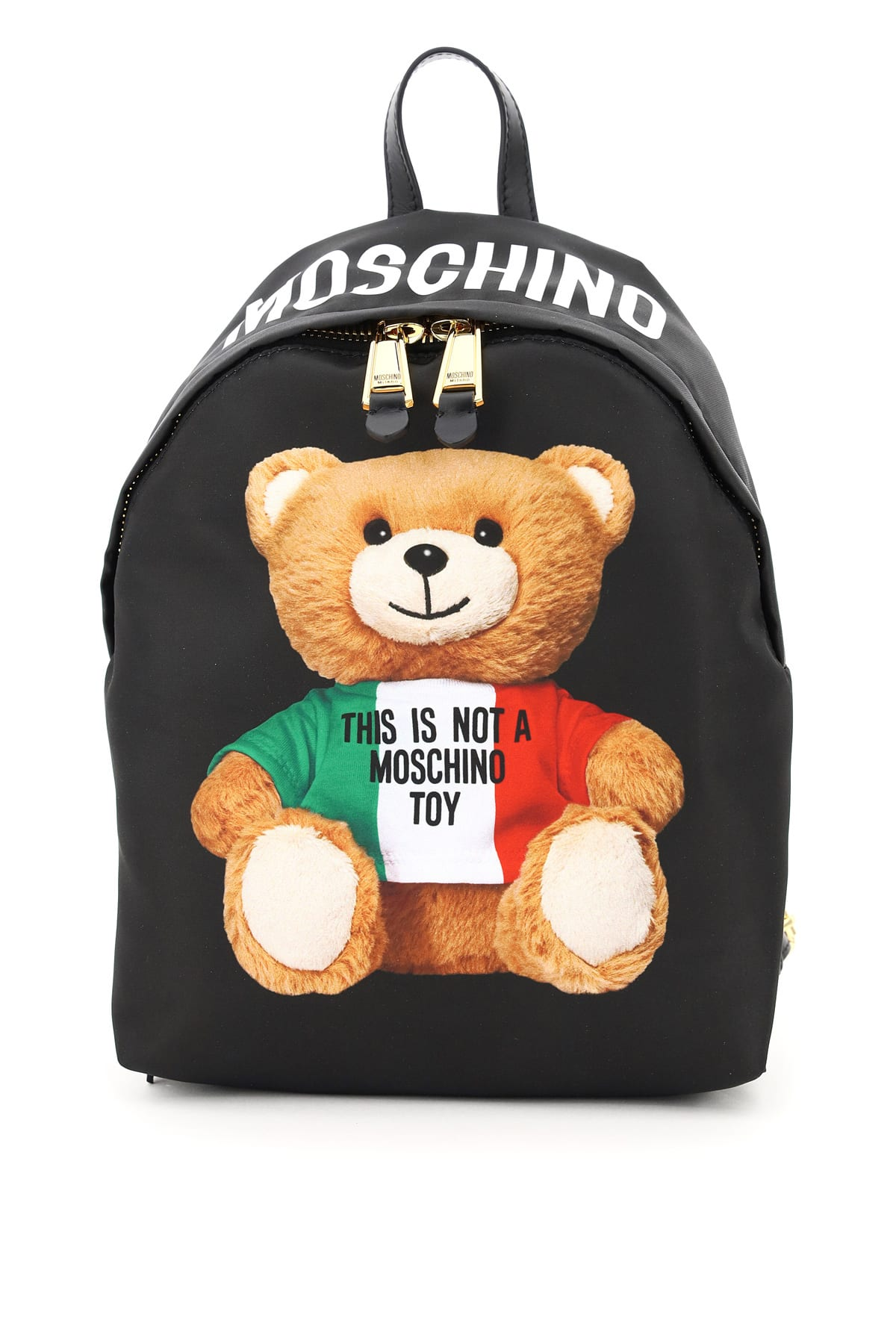 MOSCHINO BACKPACK WITH ITALIAN TEDDY BEAR PRINT