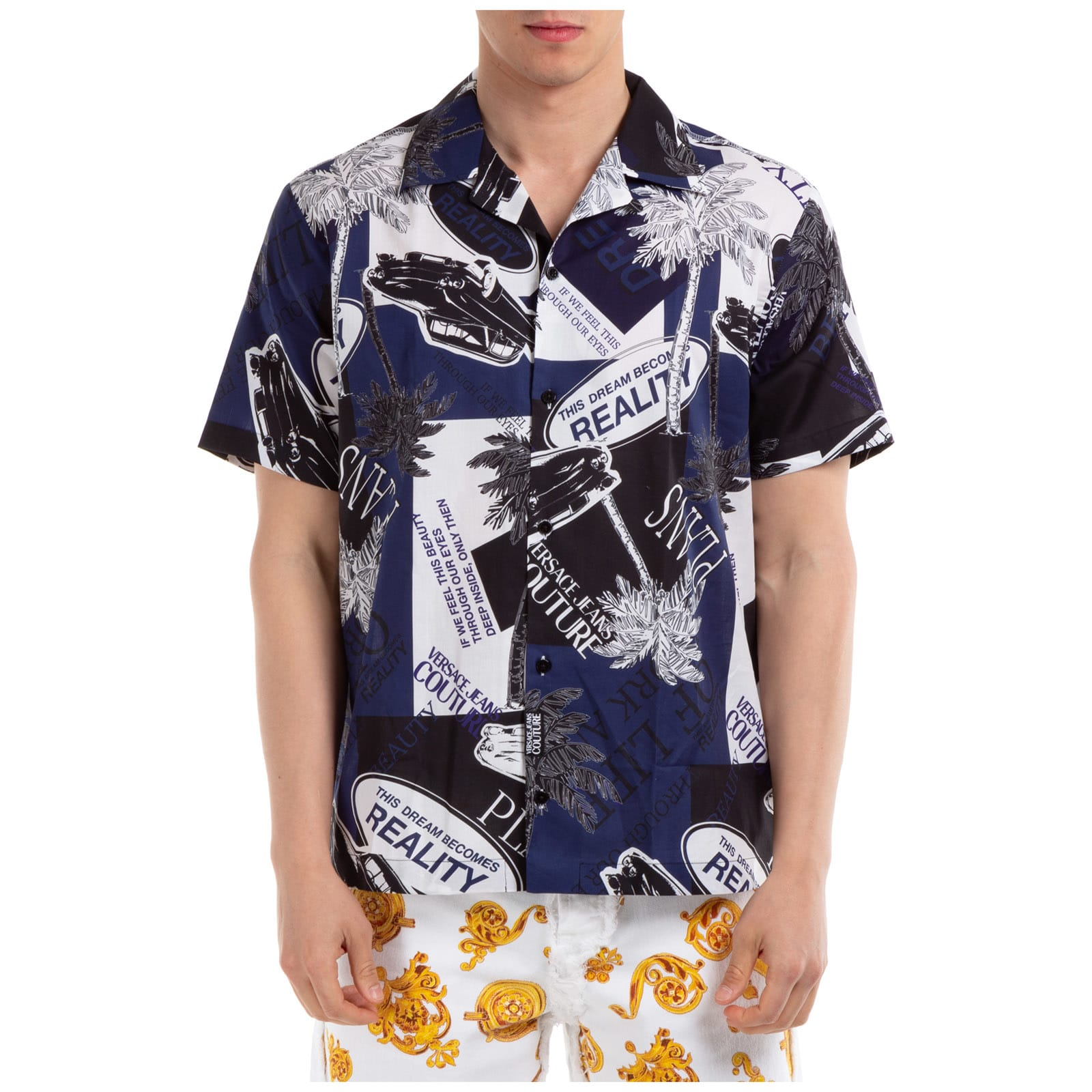 Versace Jeans Couture Stella Logo Short Sleeve Shirts