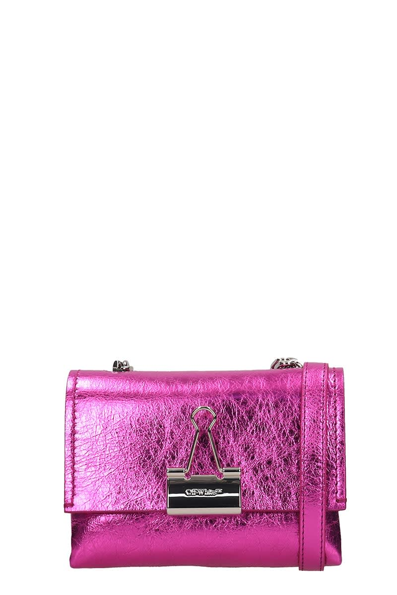 Off-White Shoulder Bag In Fuxia Leather