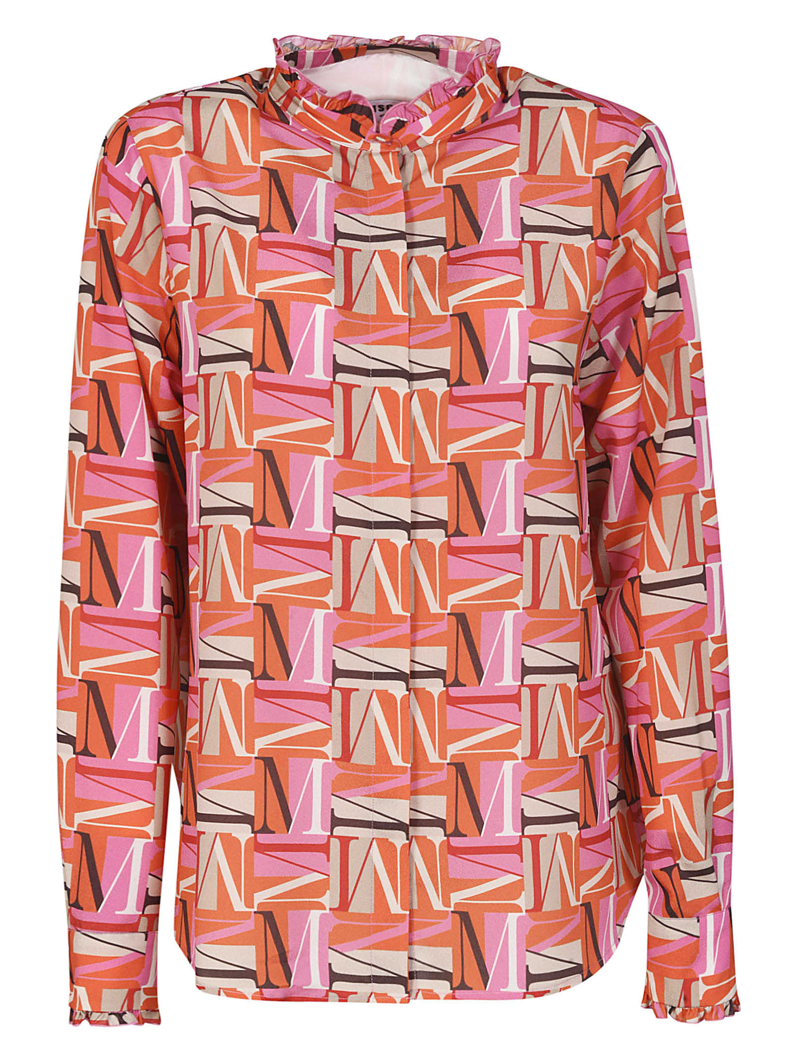 MSGM All-over Logo Printed Shirt