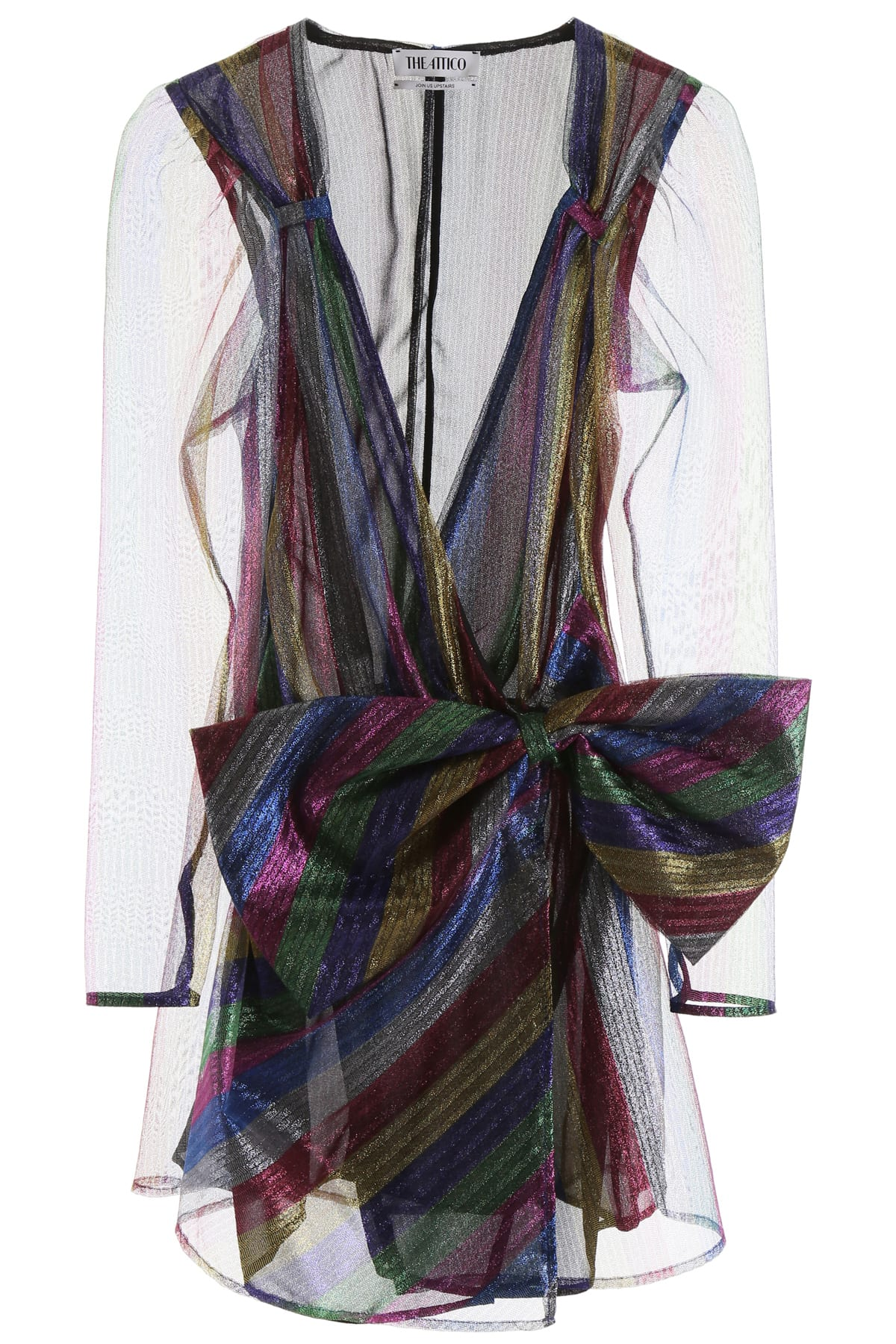 The Attico Rainbow Tulle Mini Dress