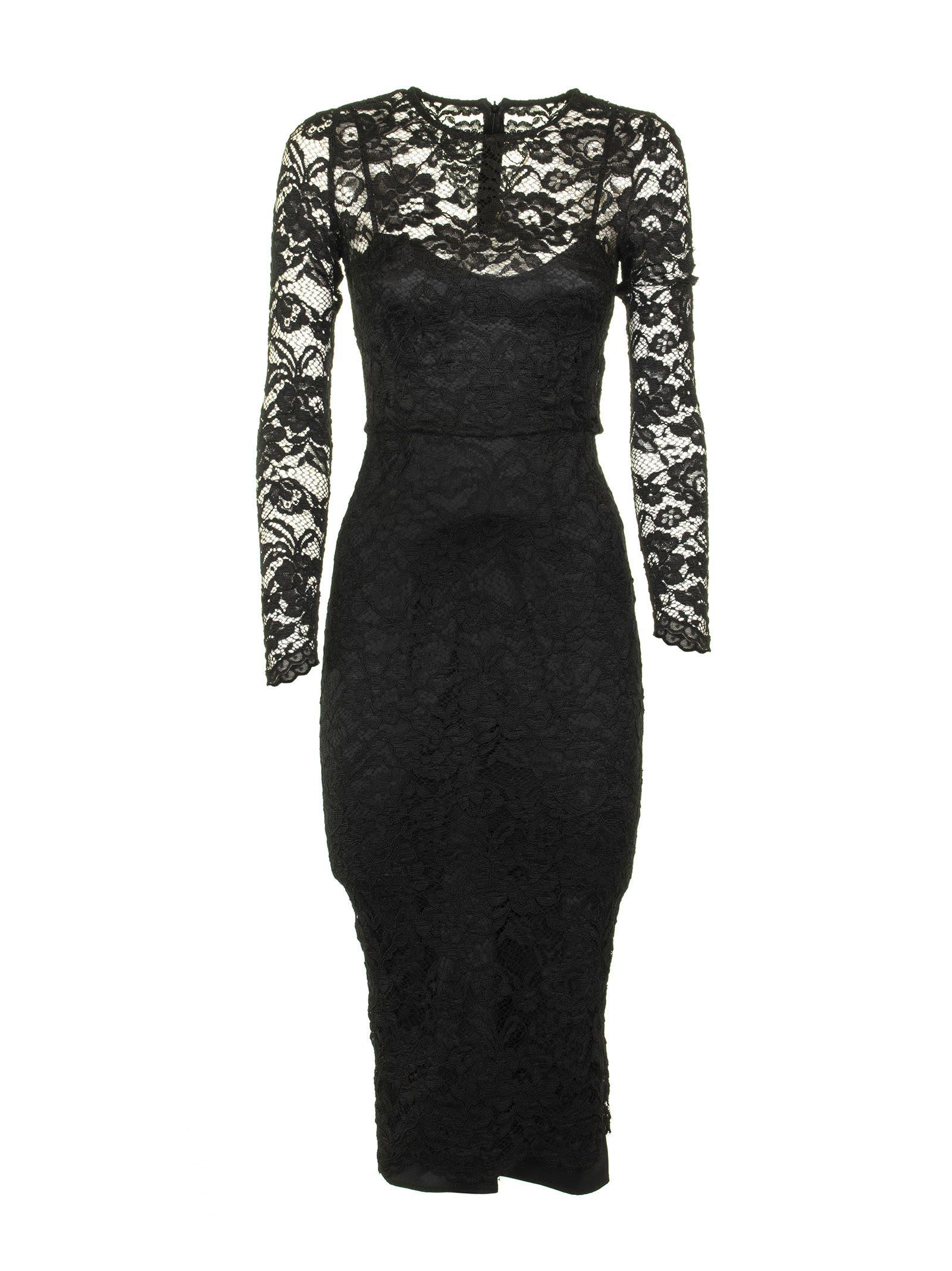 Elisabetta Franchi Celyn B. Calf-length Lace Dress