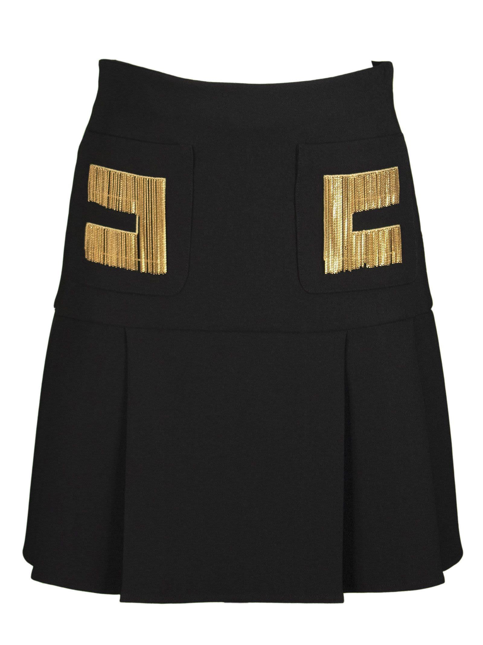 Elisabetta Franchi Celyn B. Pleated skirts PLEATED SKIRT WITH LOGO