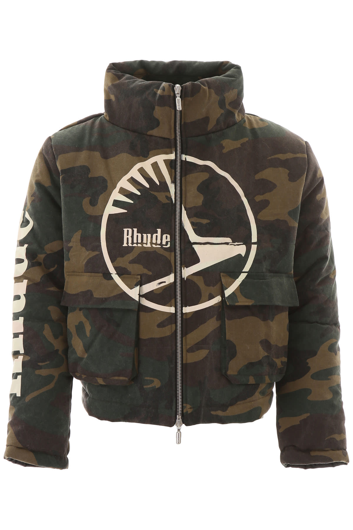 Rhude Cottons CAMOUFLAGE PUFFER JACKET
