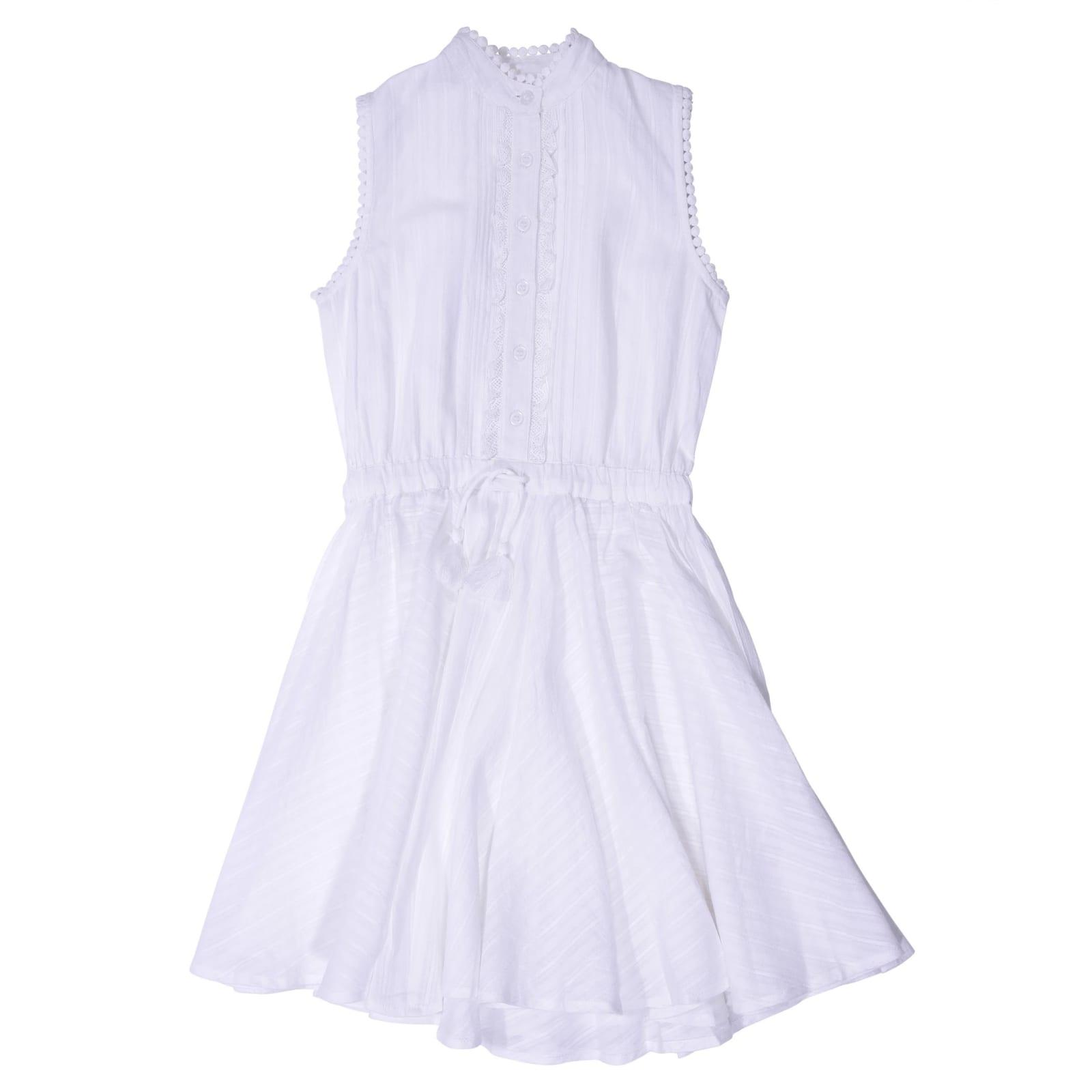 Zadig & Voltaire White Cotton Crepe Dress