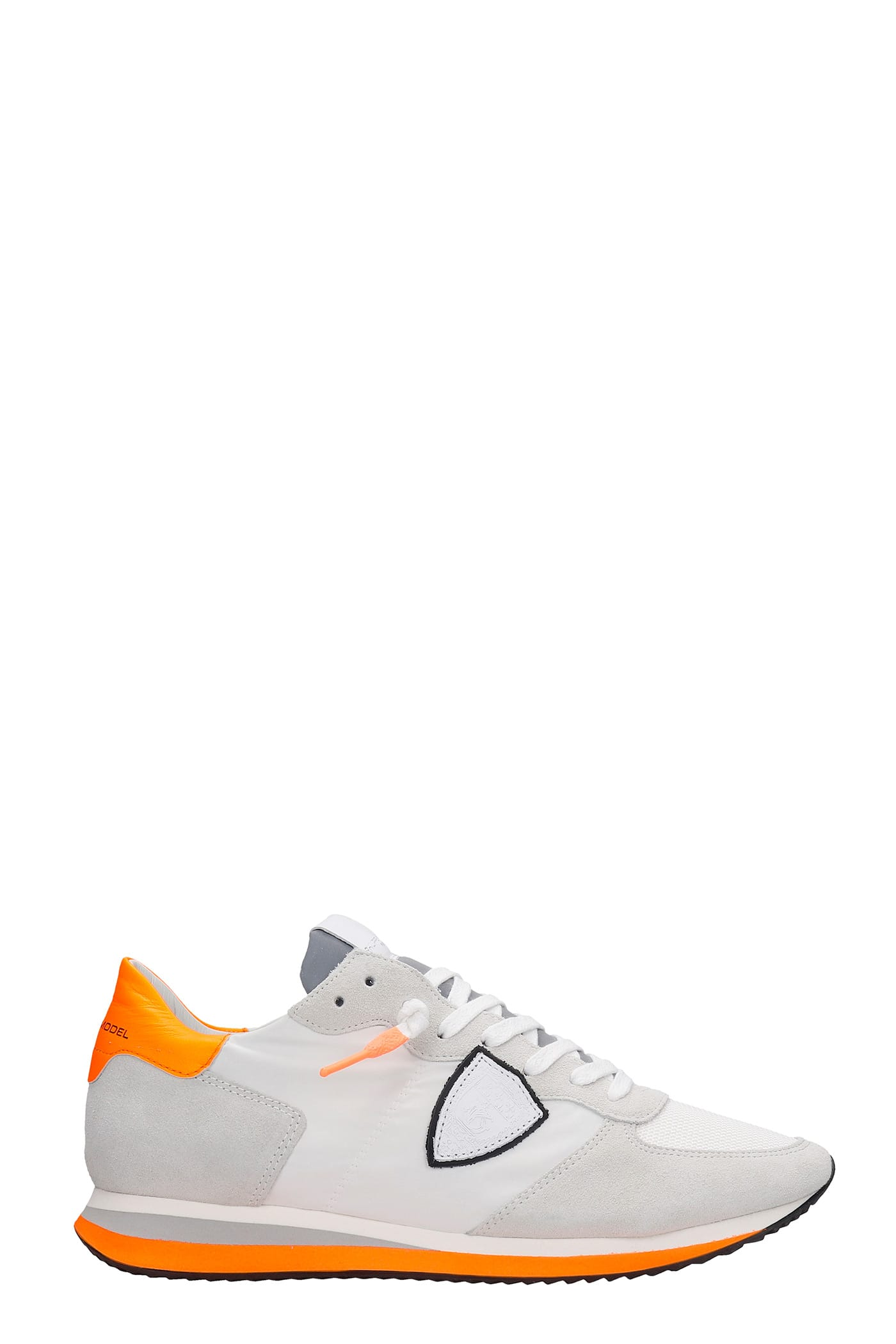 Philippe Model Suedes TRPX SNEAKERS IN WHITE SUEDE AND FABRIC