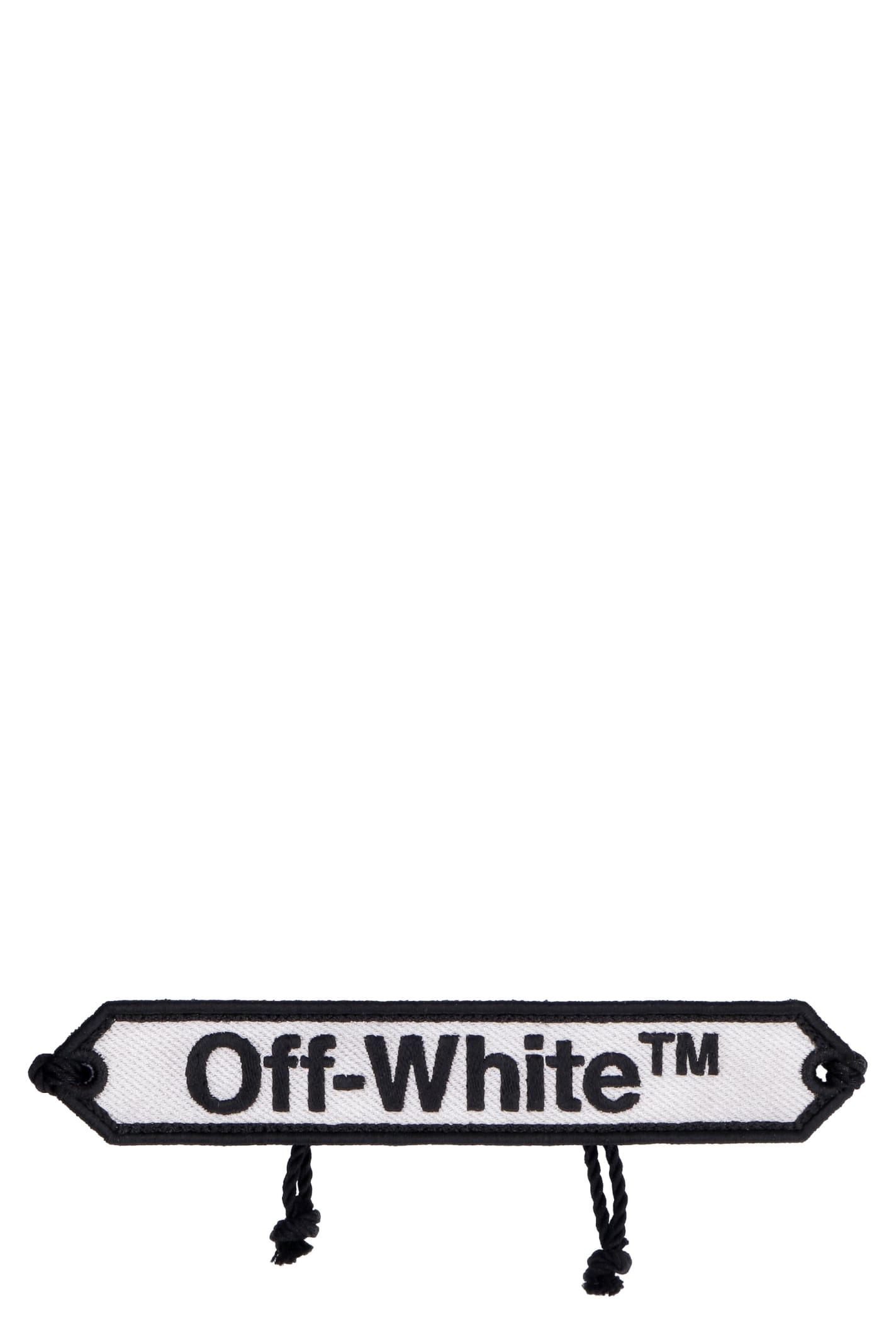 Off-White Logo Embroidery Cord Bracelet