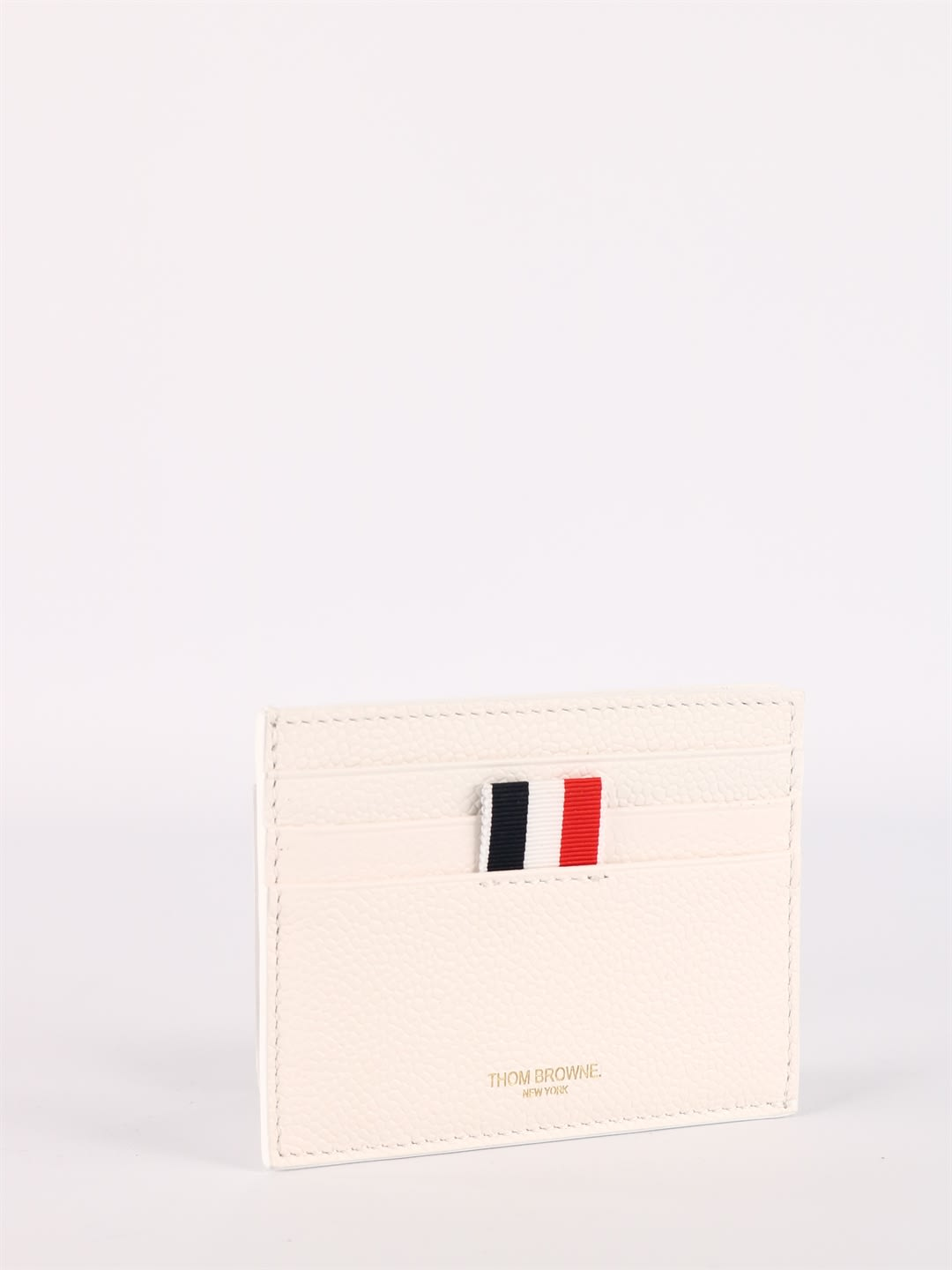 Thom Browne WHITE LEATHER CARD HOLDER