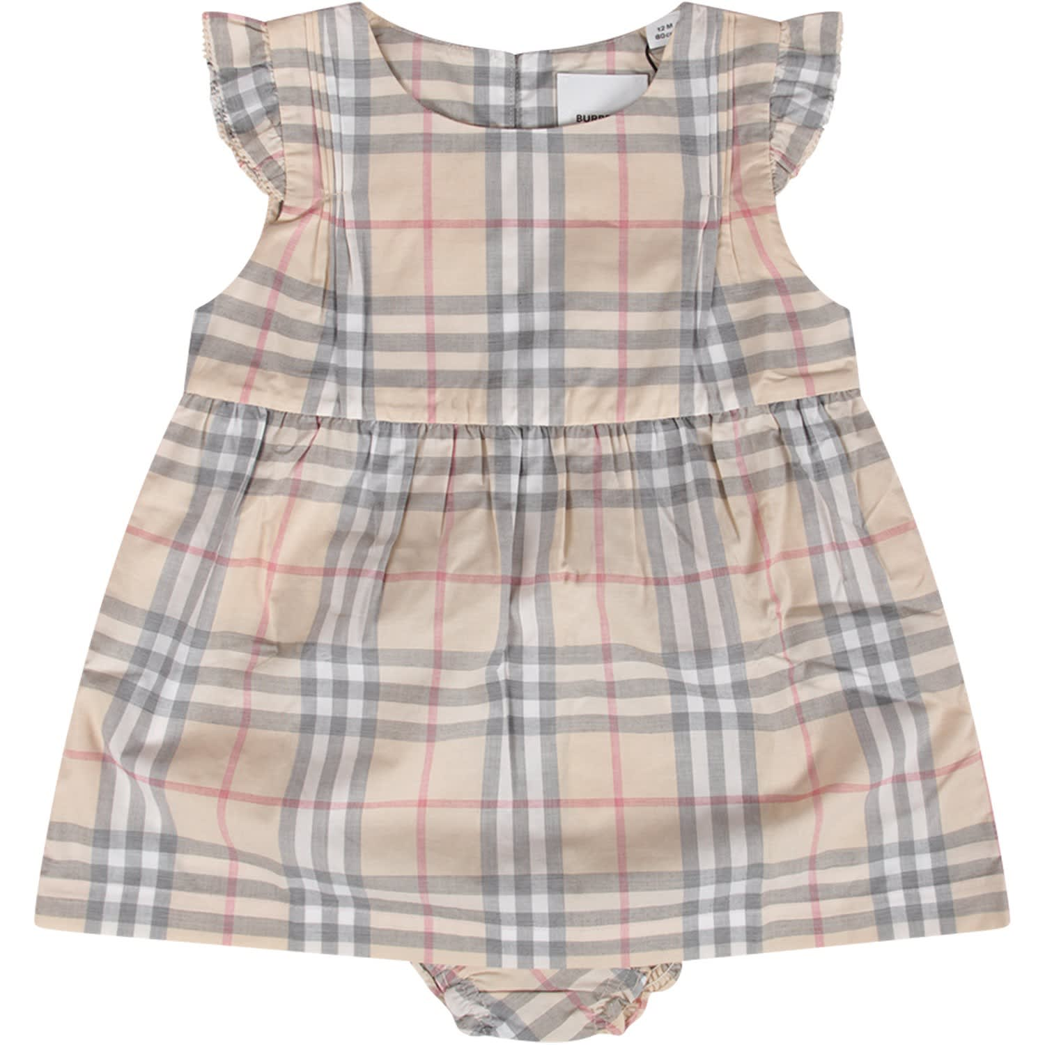 Buy Burberry Checked Baby Girl Dress online, shop Burberry with free shipping