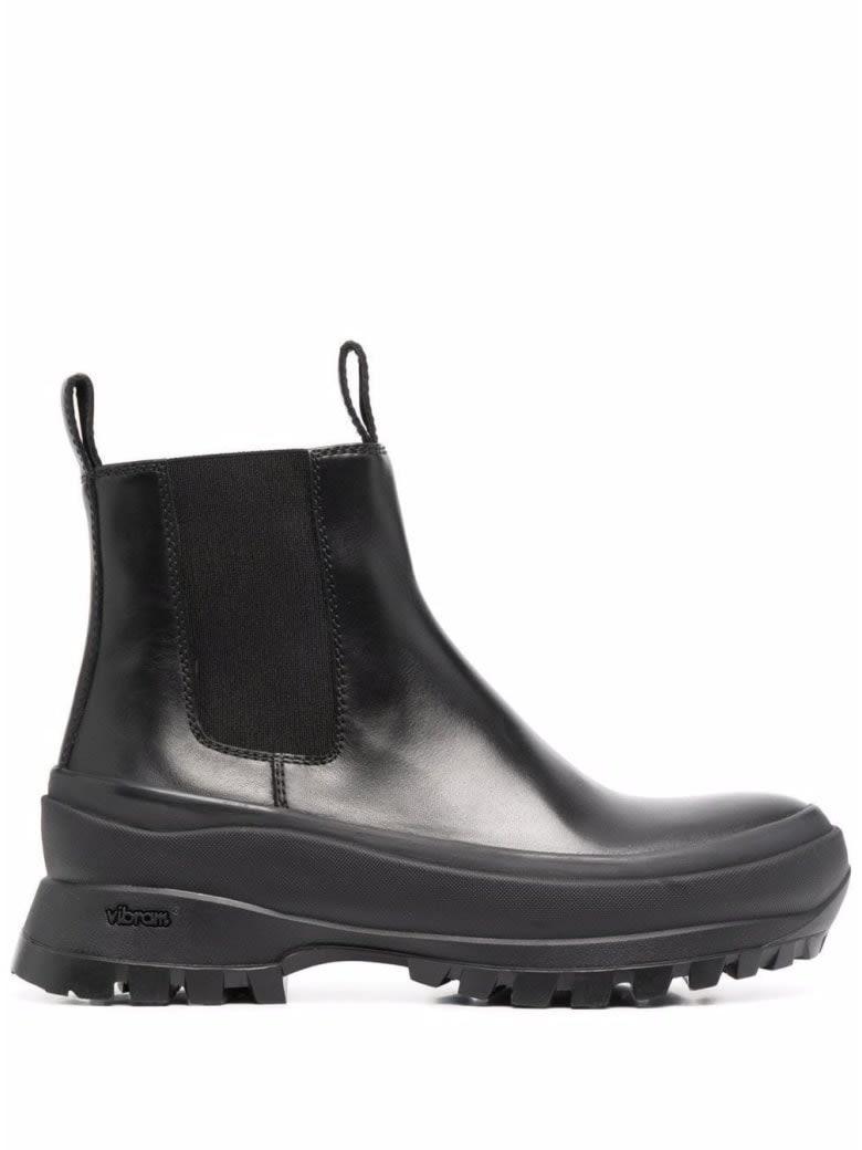 Buy Jil Sander Chelsea Boots - Vit. boston 999 Nero online, shop Jil Sander shoes with free shipping