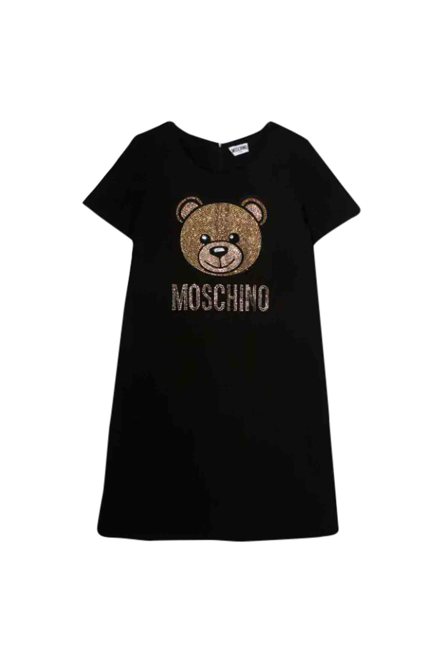 Moschino Teddy Bear Dress With Sequins