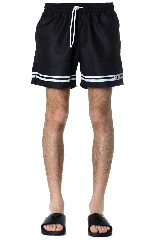 GCDS Black Gcds Logo Striped Swimshorts