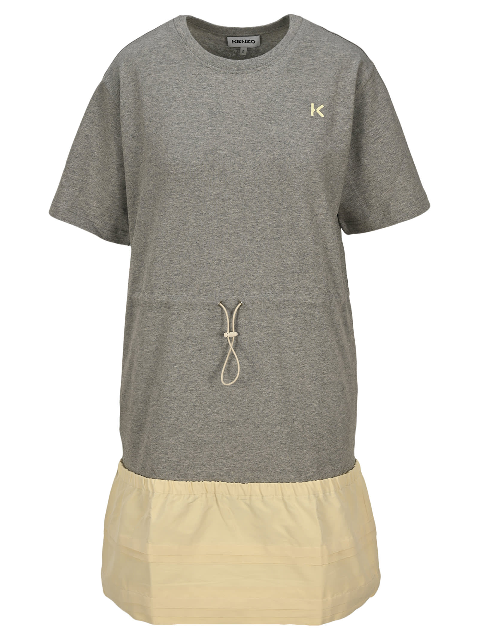 Kenzo Cottons DUAL-MATERIAL T-SHIRT DRESS