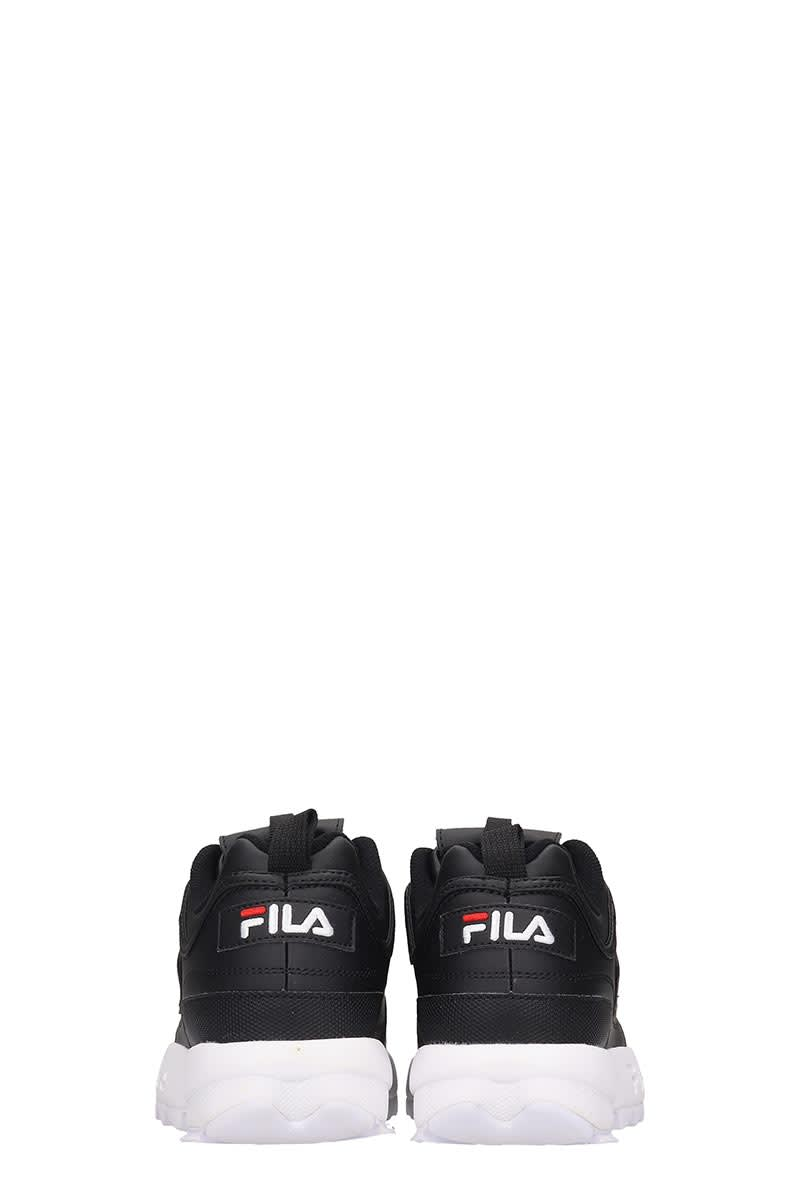 Fila DISTRUPTOR LOW SNEAKERS IN BLACK LEATHER
