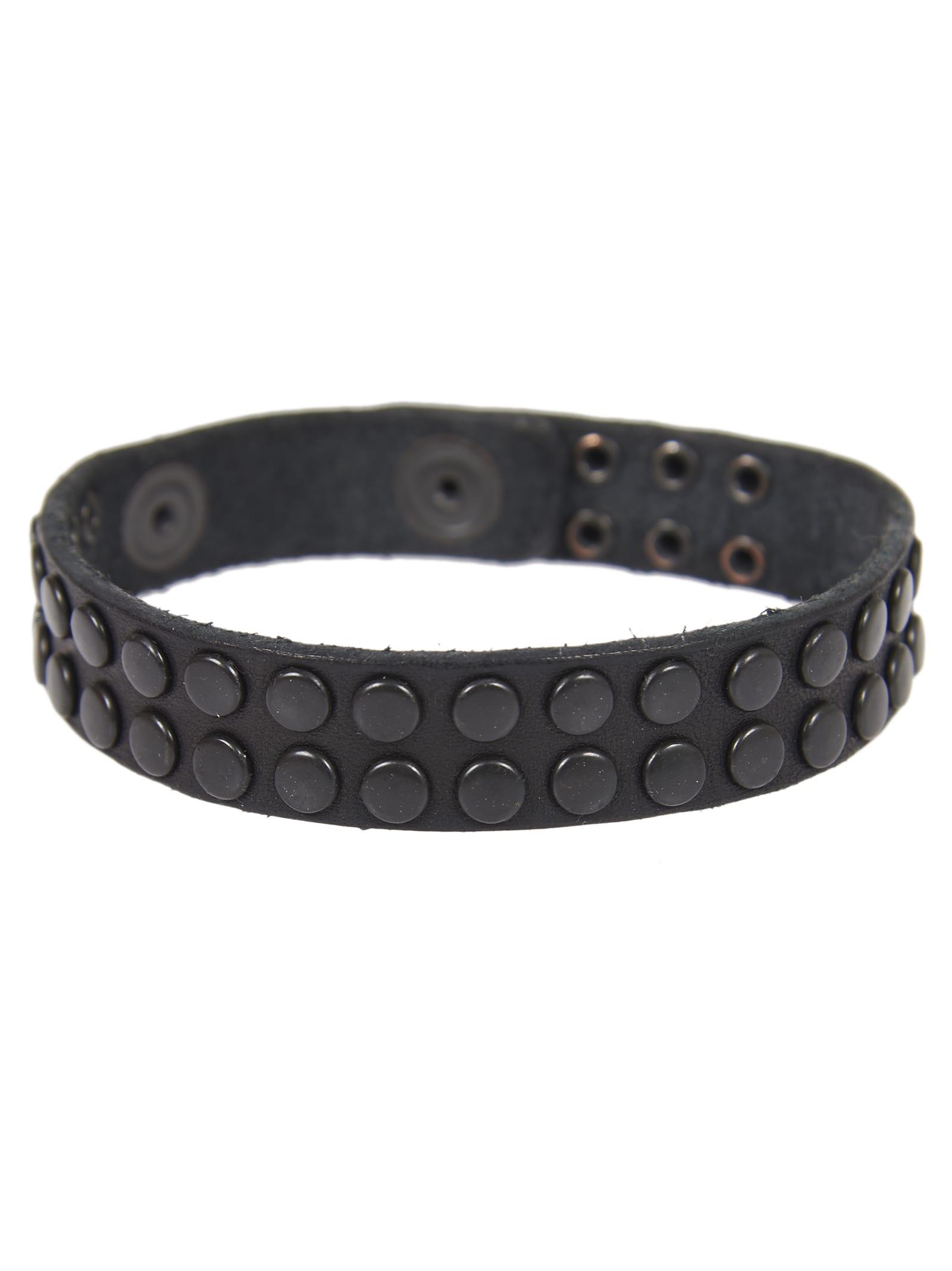 Black Bracelet With Studs