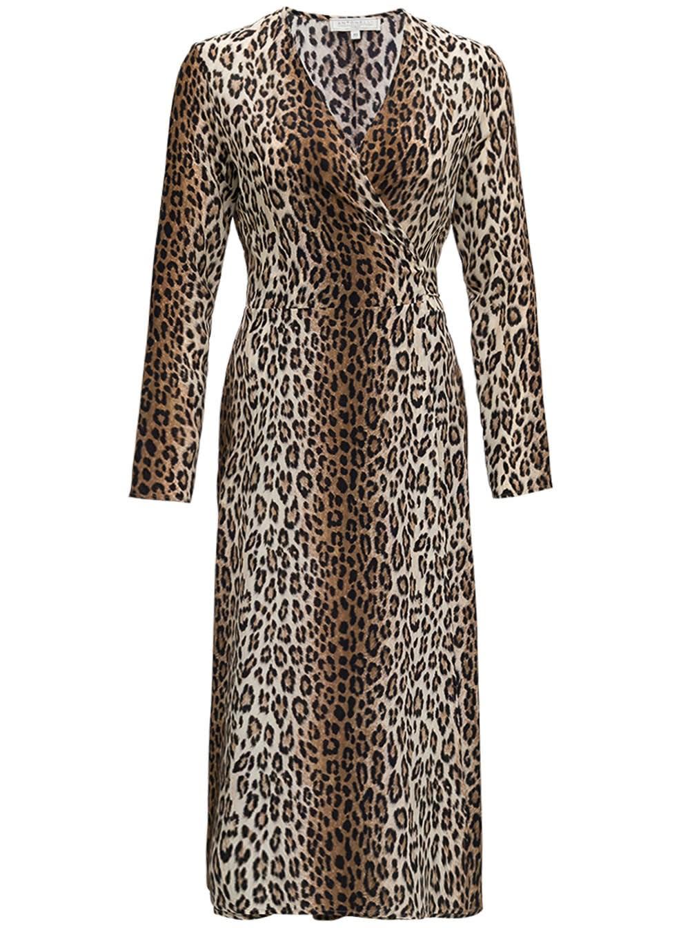 Orfeo Long Dress In Animalier Silk