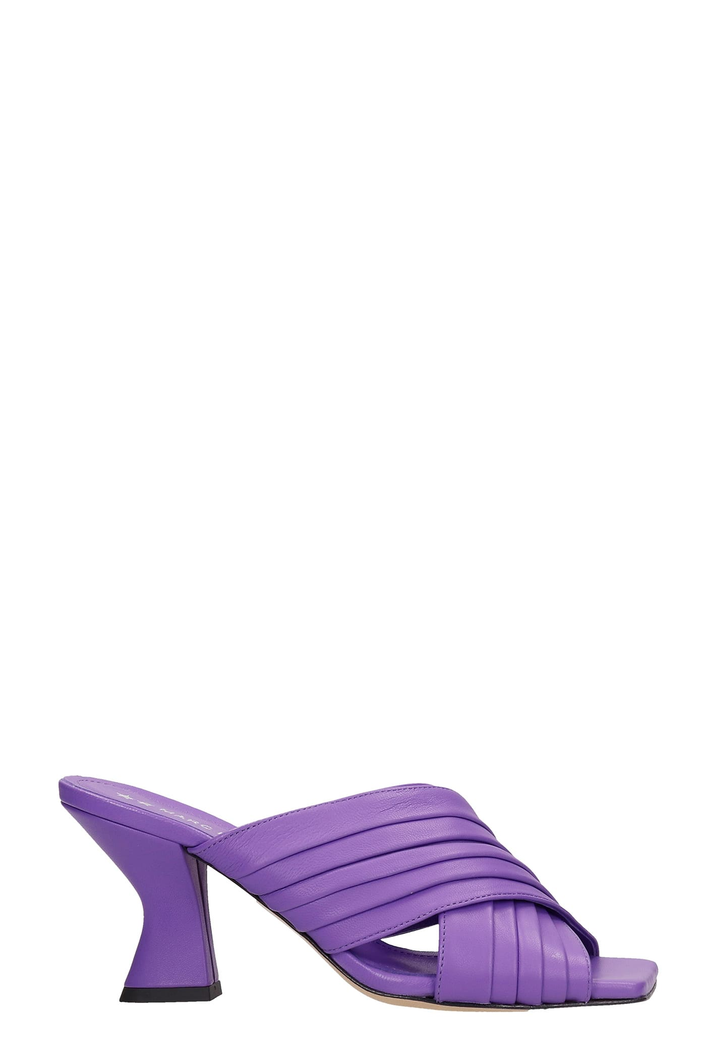 Dolly Sandals In Viola Leather