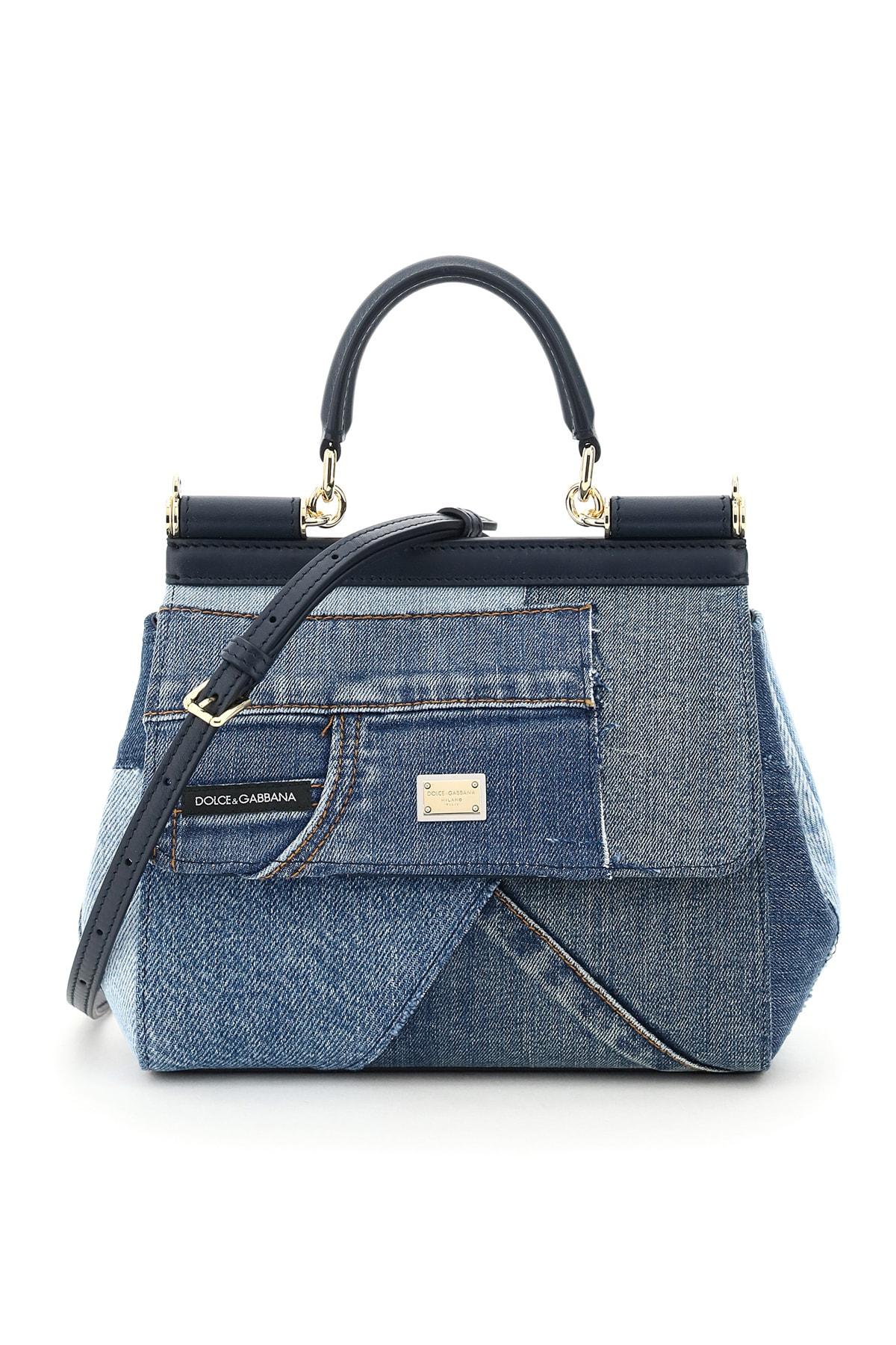 Dolce & Gabbana PATCHWORK DENIM SICILY SMALL BAG
