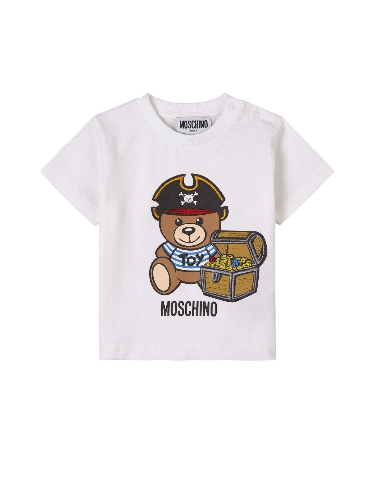 Moschino Cottons T-SHIRT W/PIRATE TEDDY