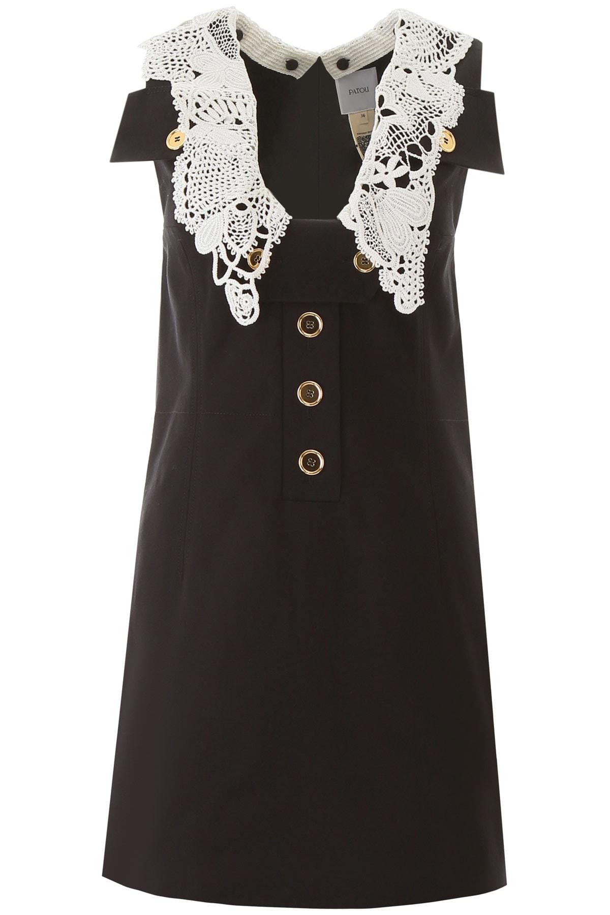 Buy Patou Safari Mini Dress With Crochet online, shop Patou with free shipping