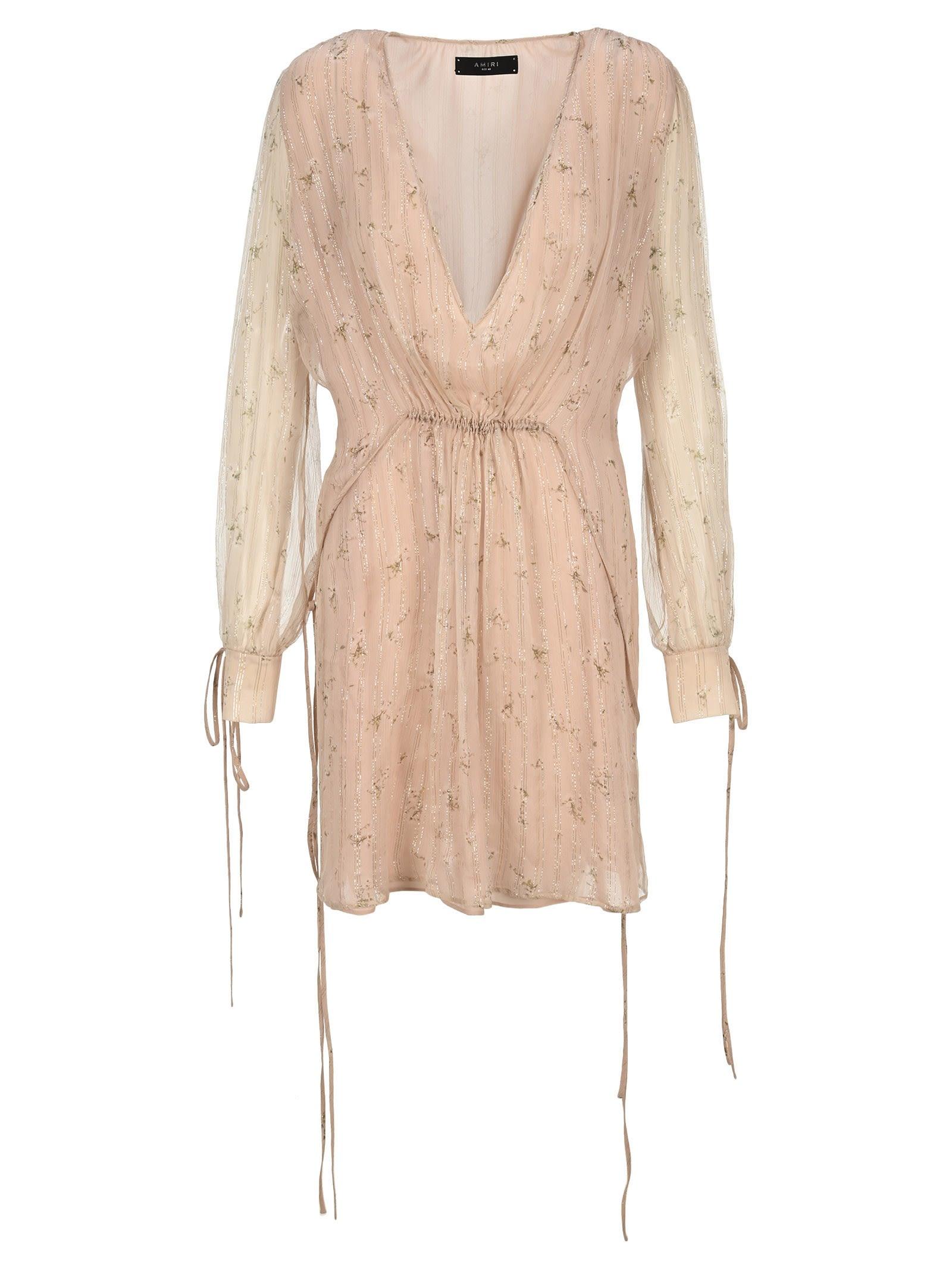 Amiri AMIRI FLORAL PRINT CHIFFON DRESS