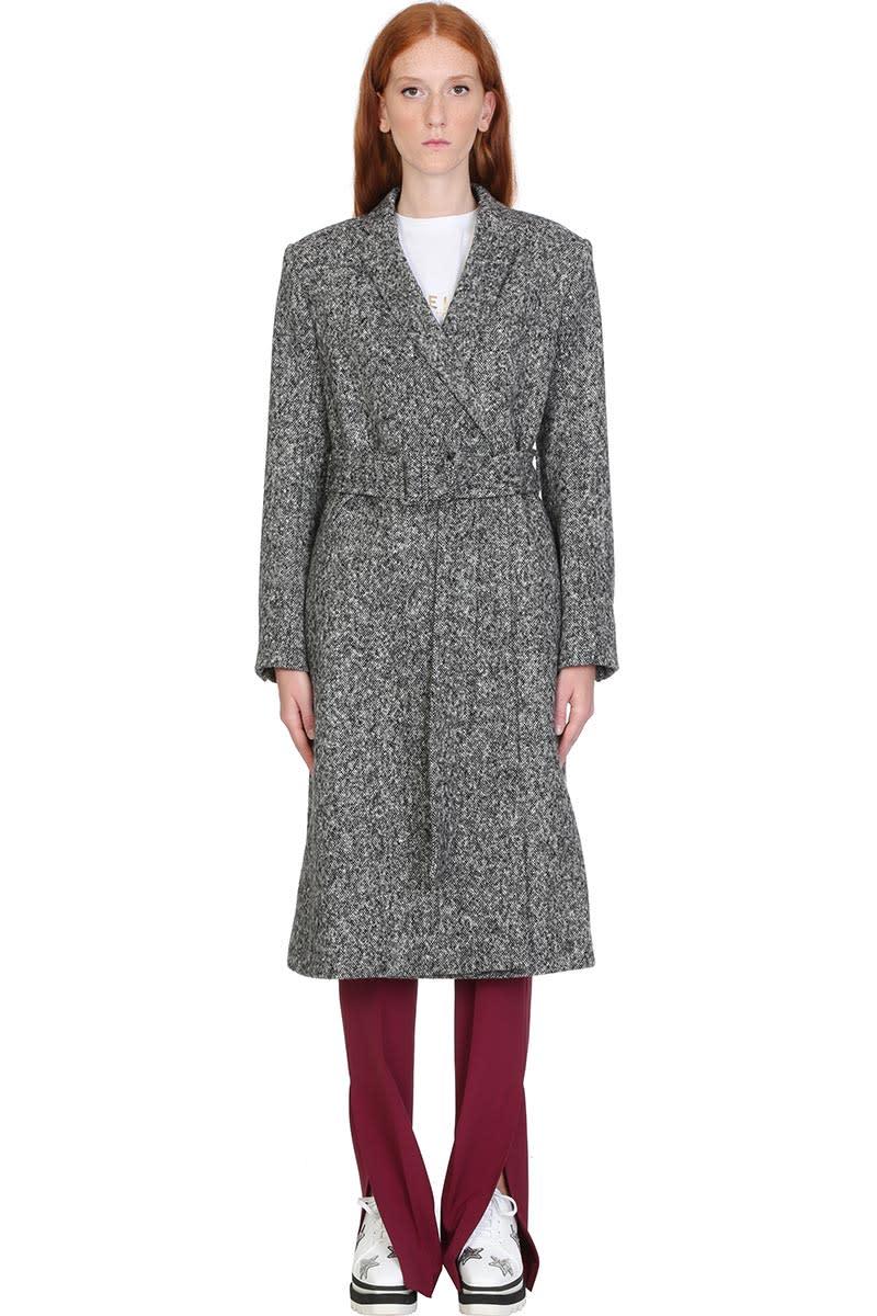 Stella McCartney Coat In Grey Wool