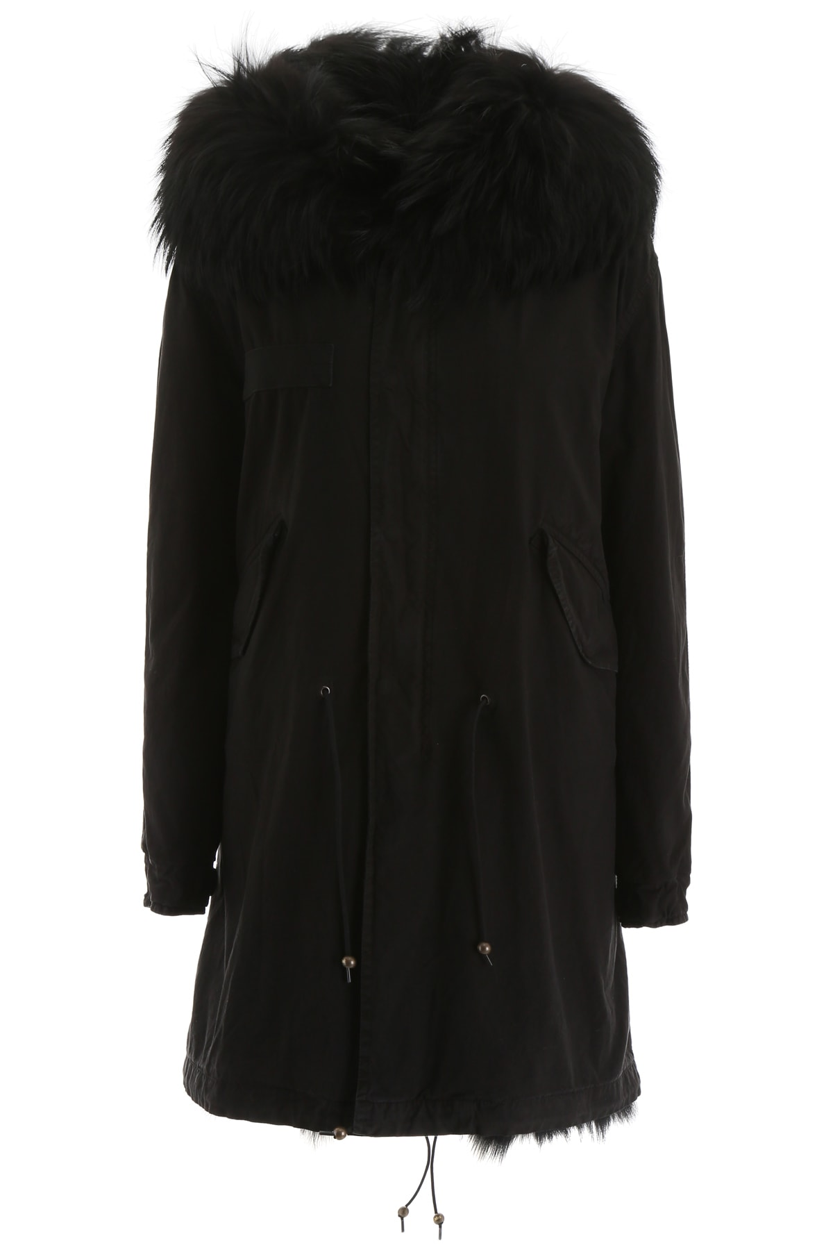 Mr & Mrs Italy Long Parka With Fur