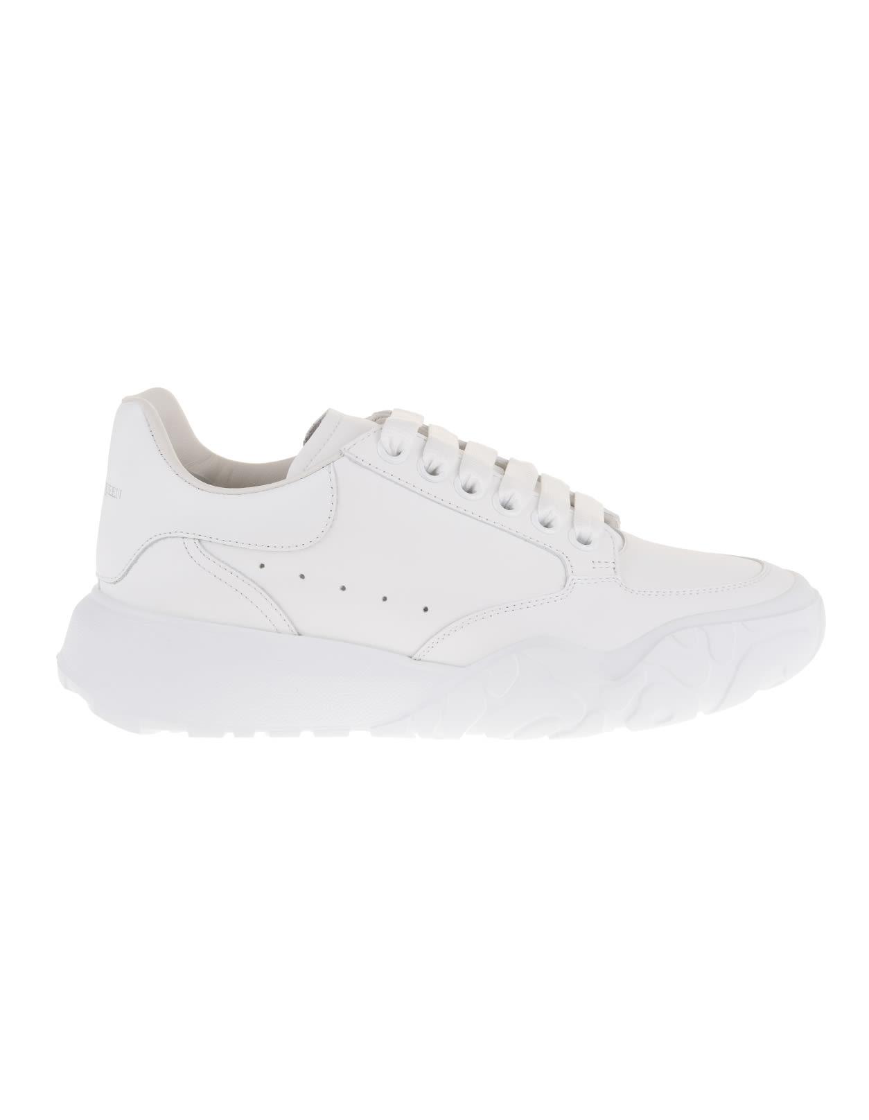 Alexander McQueen Woman White Trainer Court Oversize Sneakers