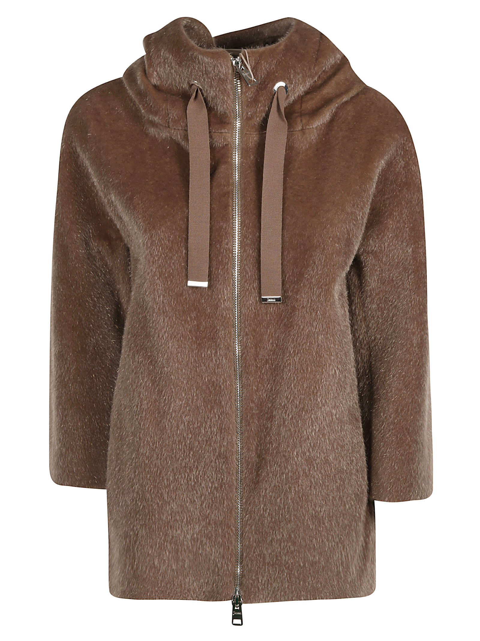 Herno Fur-coated Zipped Jacket