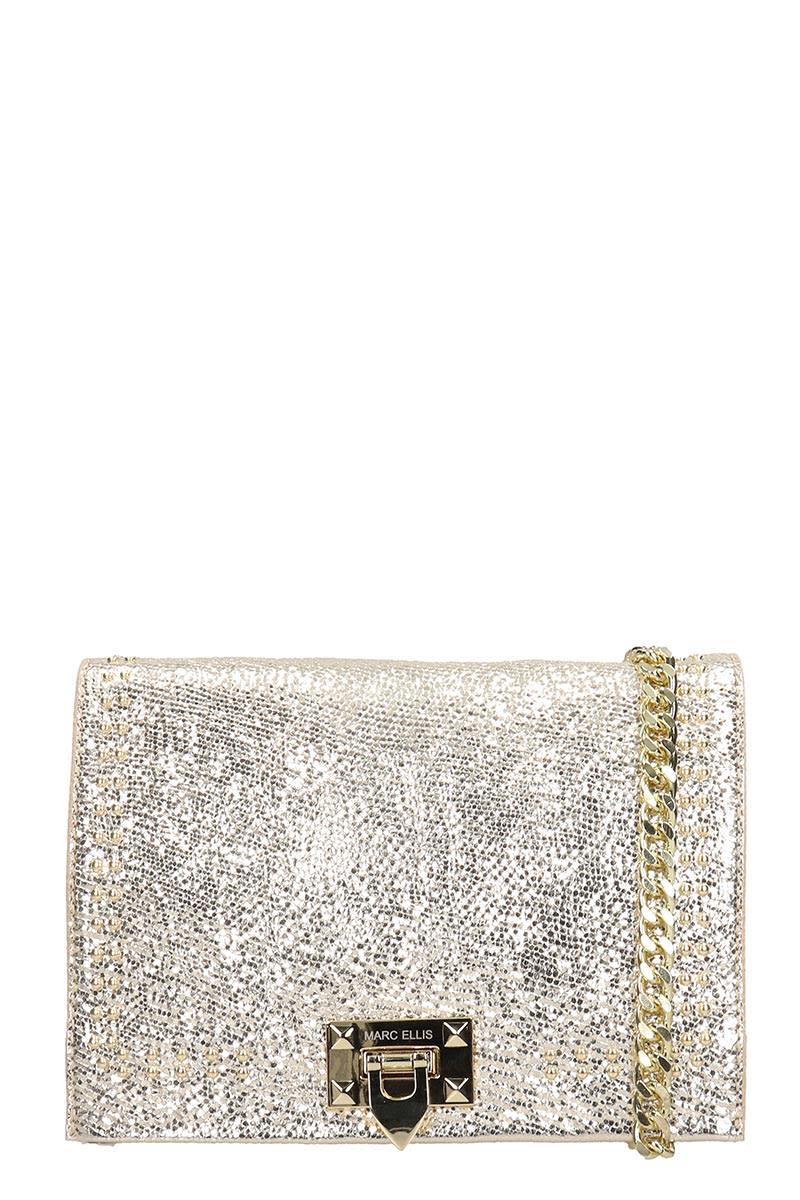 Marc Ellis April M Shoulder Bag In Platinum Leather
