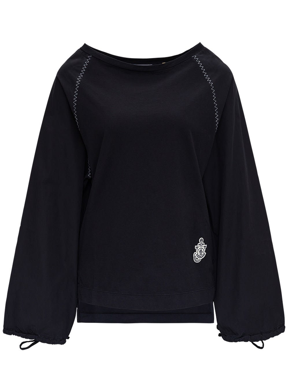 Moncler Genius BLACK COTTON BLOUSE BY JW ANDERSON