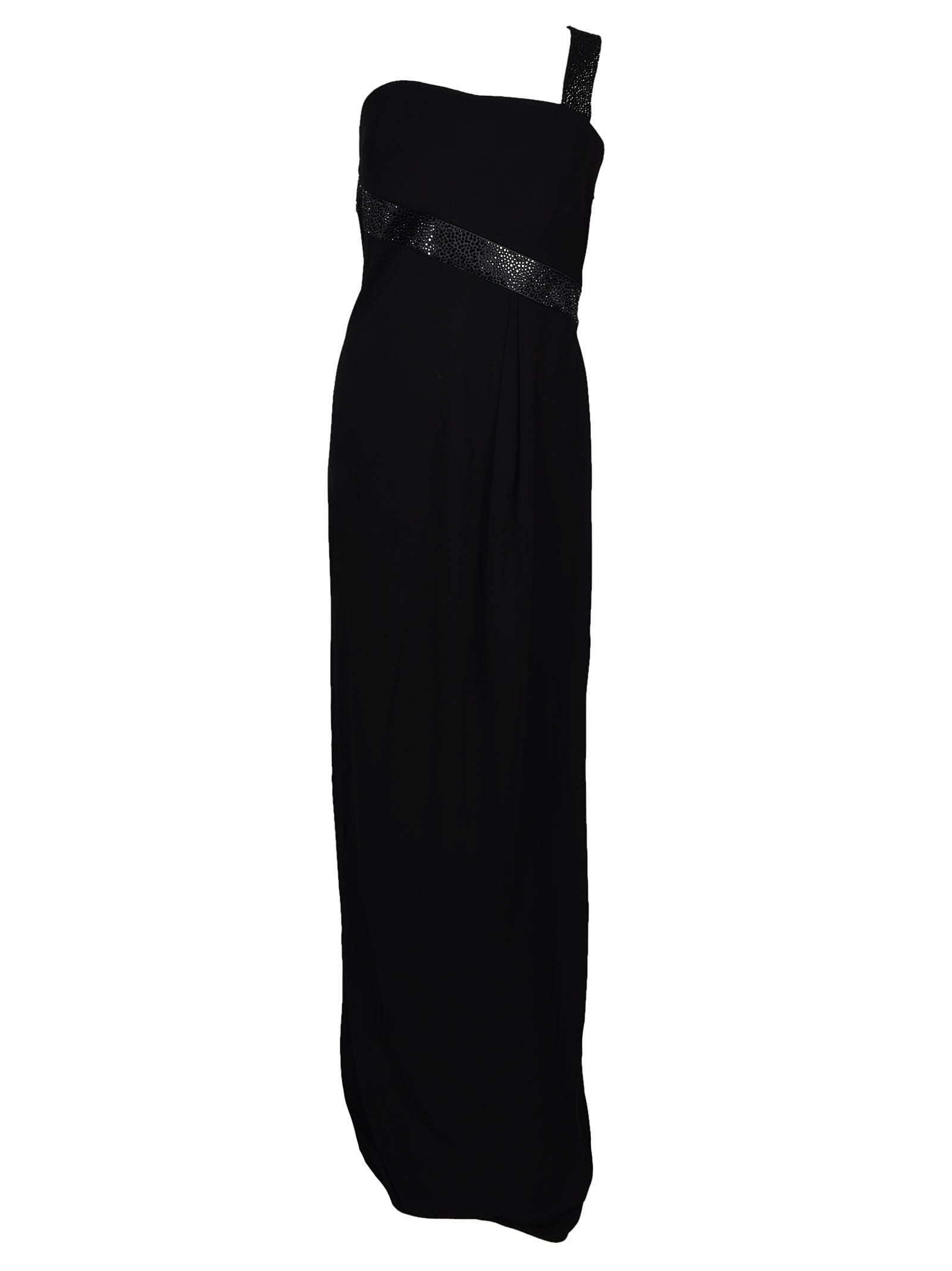 Armani Collezioni Single Shoulder Strap Long Dress
