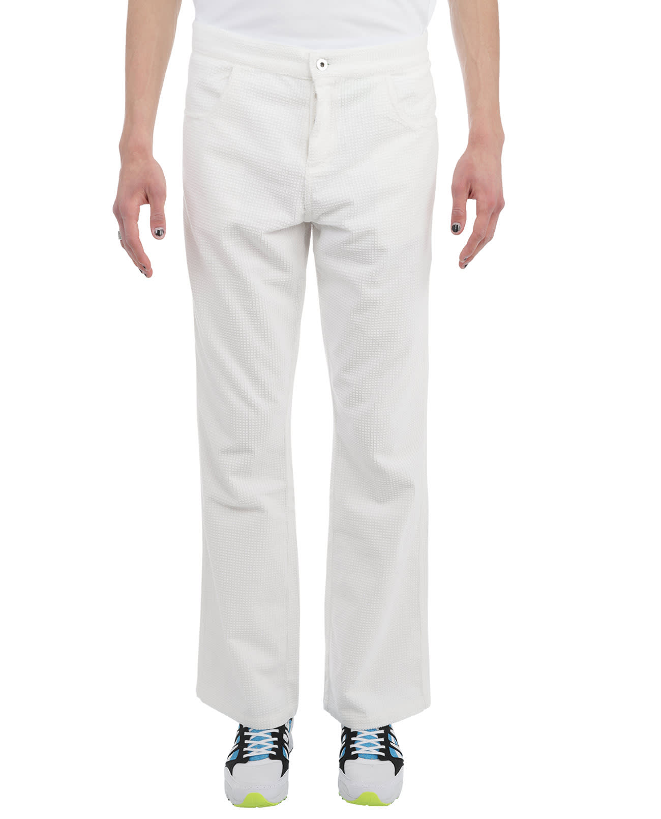 Erl ERL WHITE CORD TROUSERS