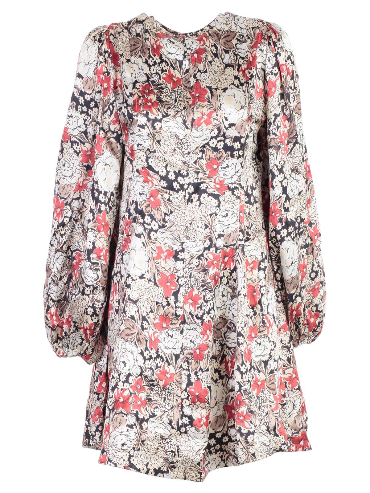 Ganni Floral Mini Dress