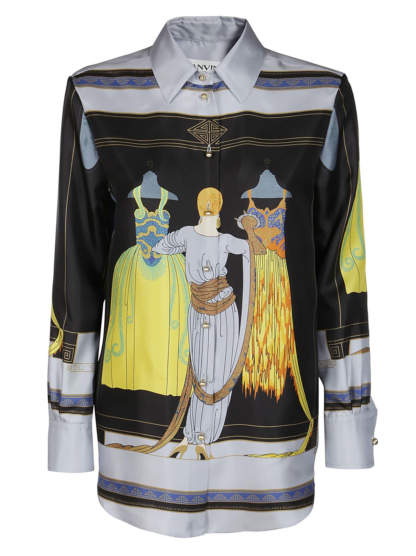 Lanvin Clothing MULTICOLOR SILK BLOUSE