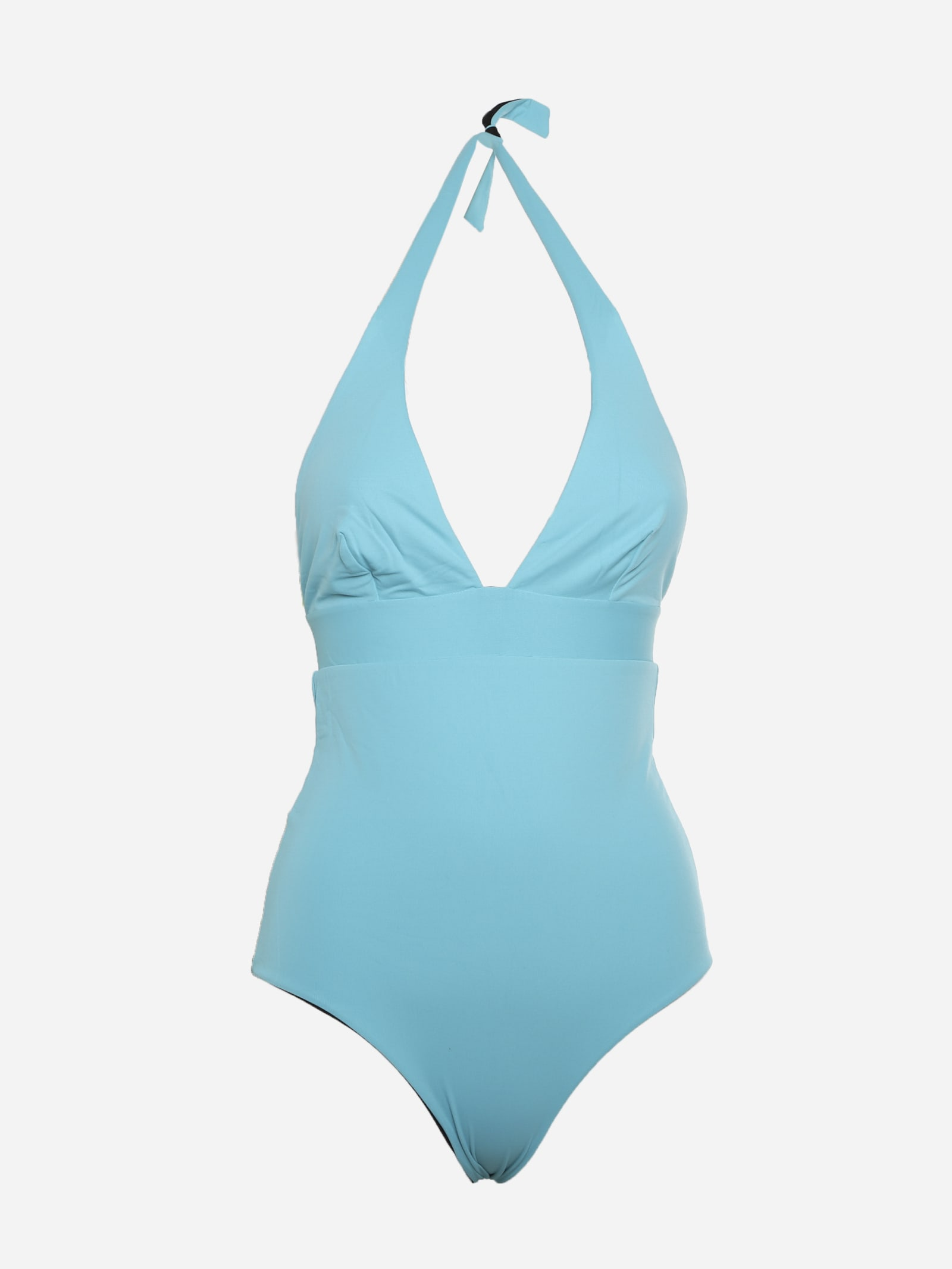 Reversible Two-tone One-piece Swimsuit