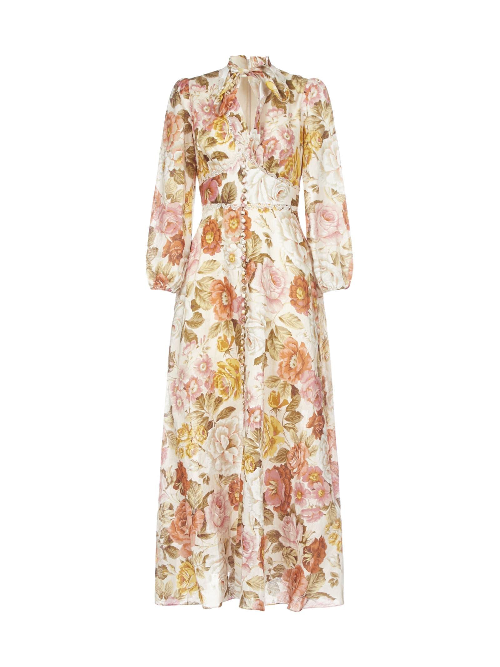 Buy Zimmermann Bonita Long Sleeve Dress online, shop Zimmermann with free shipping