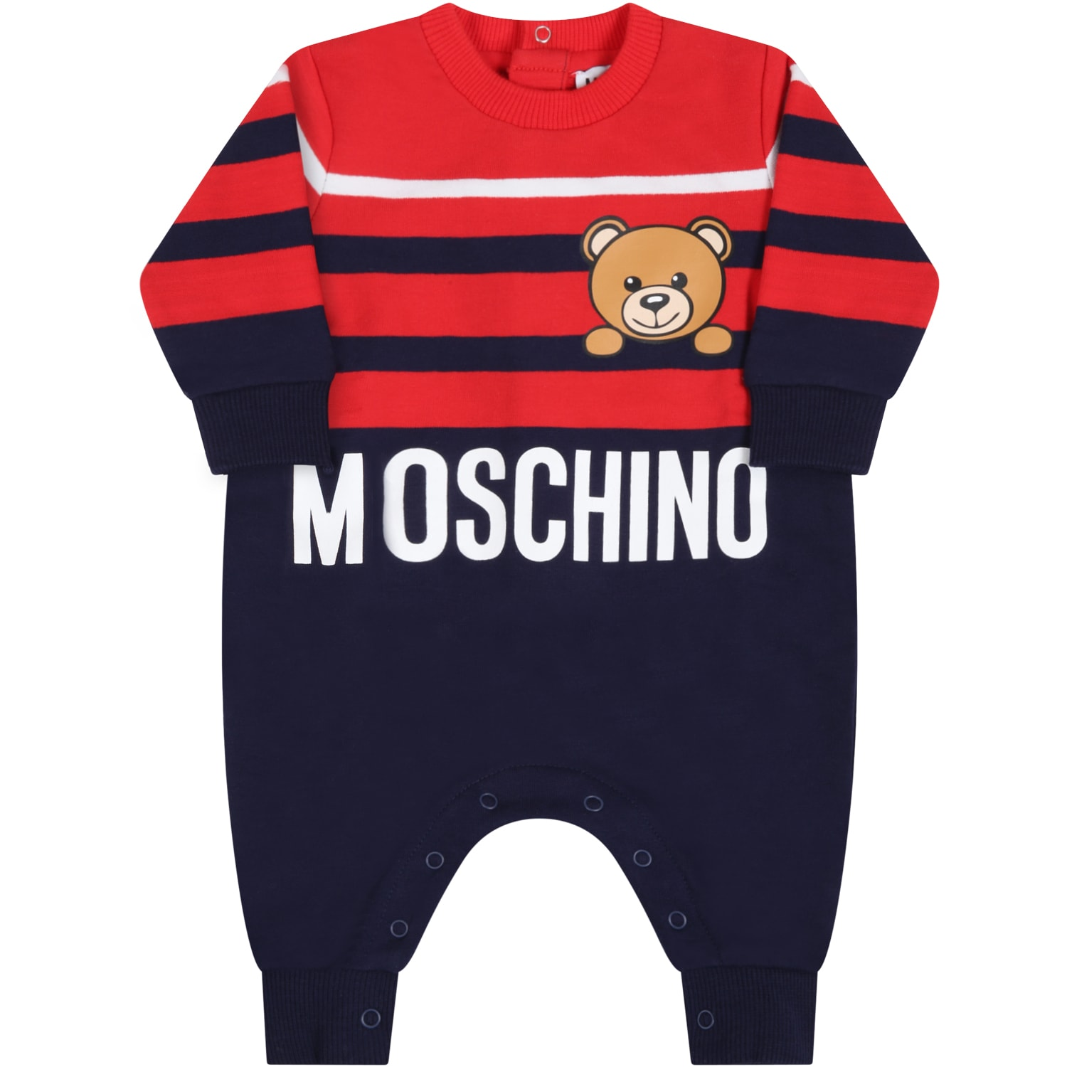 Moschino BLUE BABYGROW FOR BABYBOY WITH TEDDY BEAR