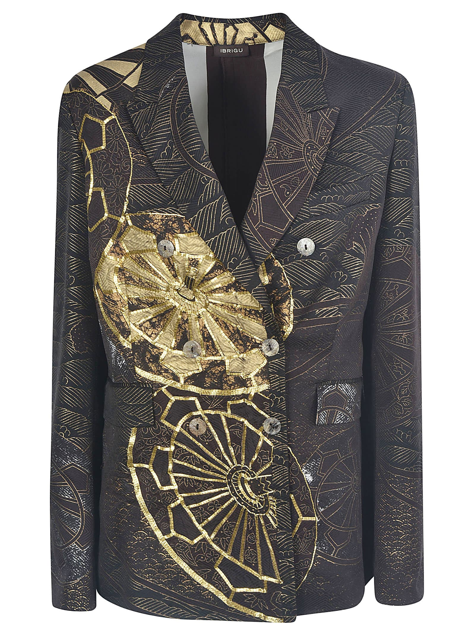 All-over Print Double-breasted Blazer