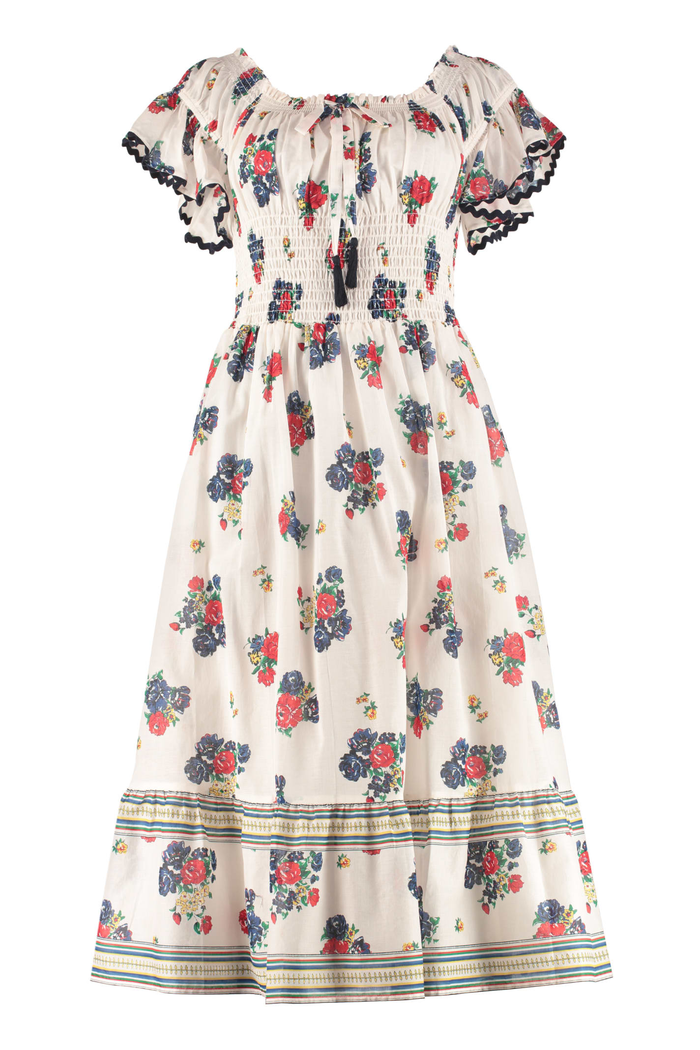Buy Tory Burch Meadow Folly Patterned Cotton Dress online, shop Tory Burch with free shipping