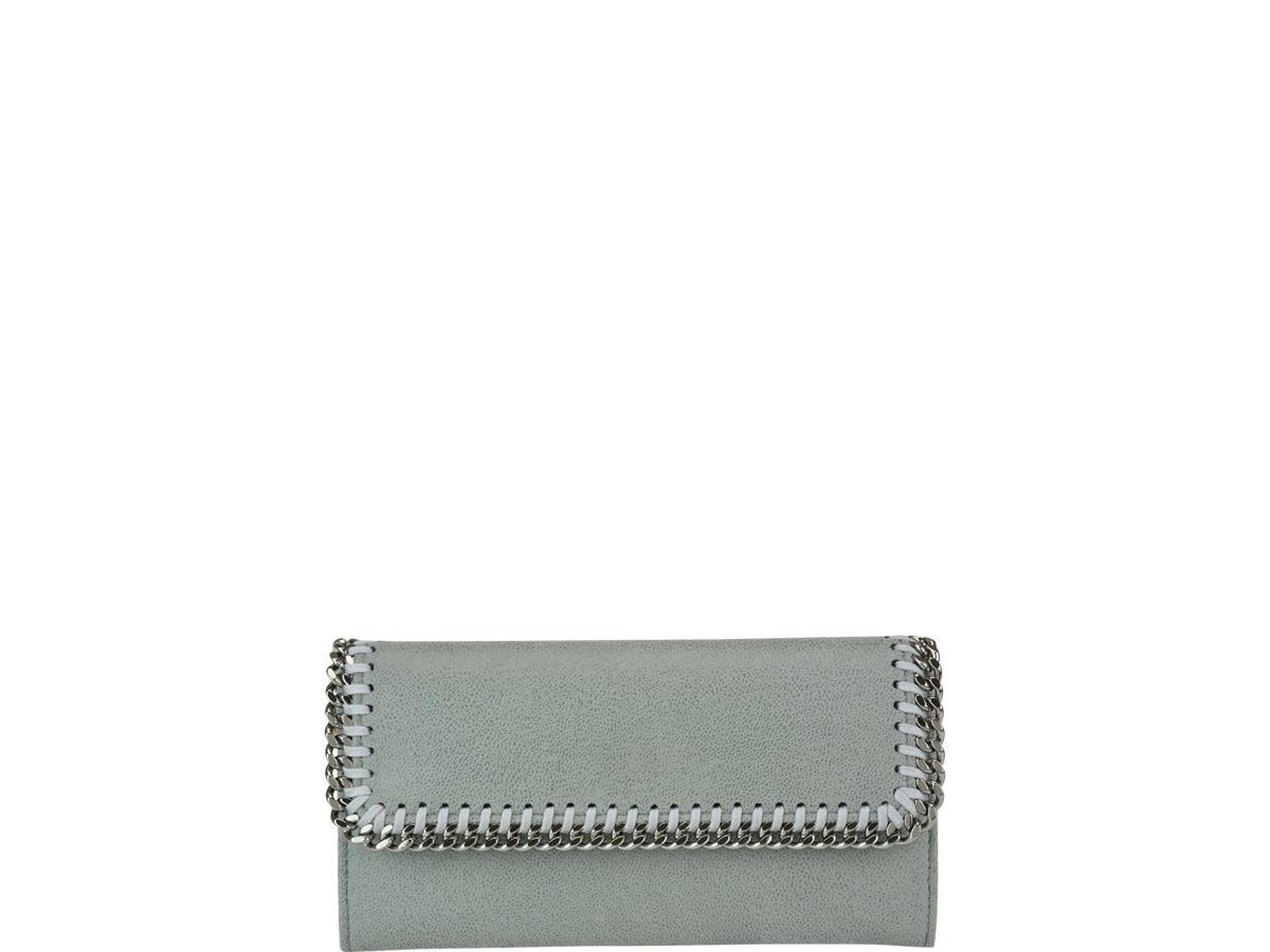 Stella Mccartney Falabella Continental Wallet In Grigio