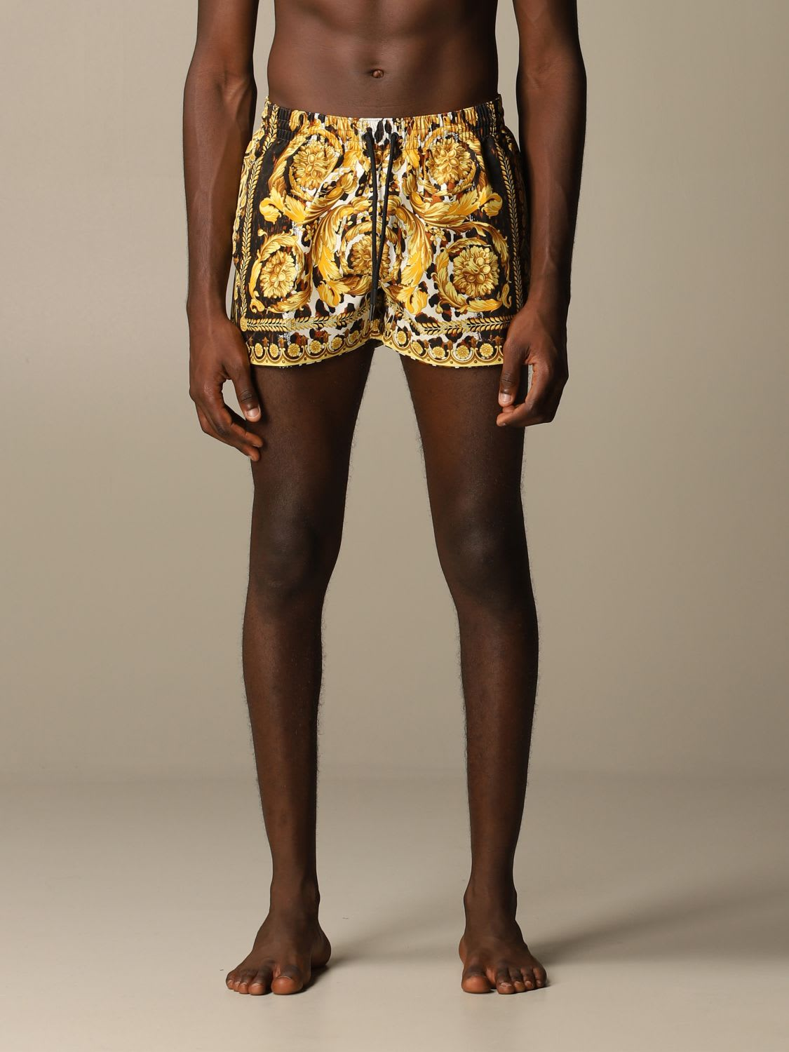 Versace Swimsuit Versace Boxer Swimsuit With Baroque Pattern