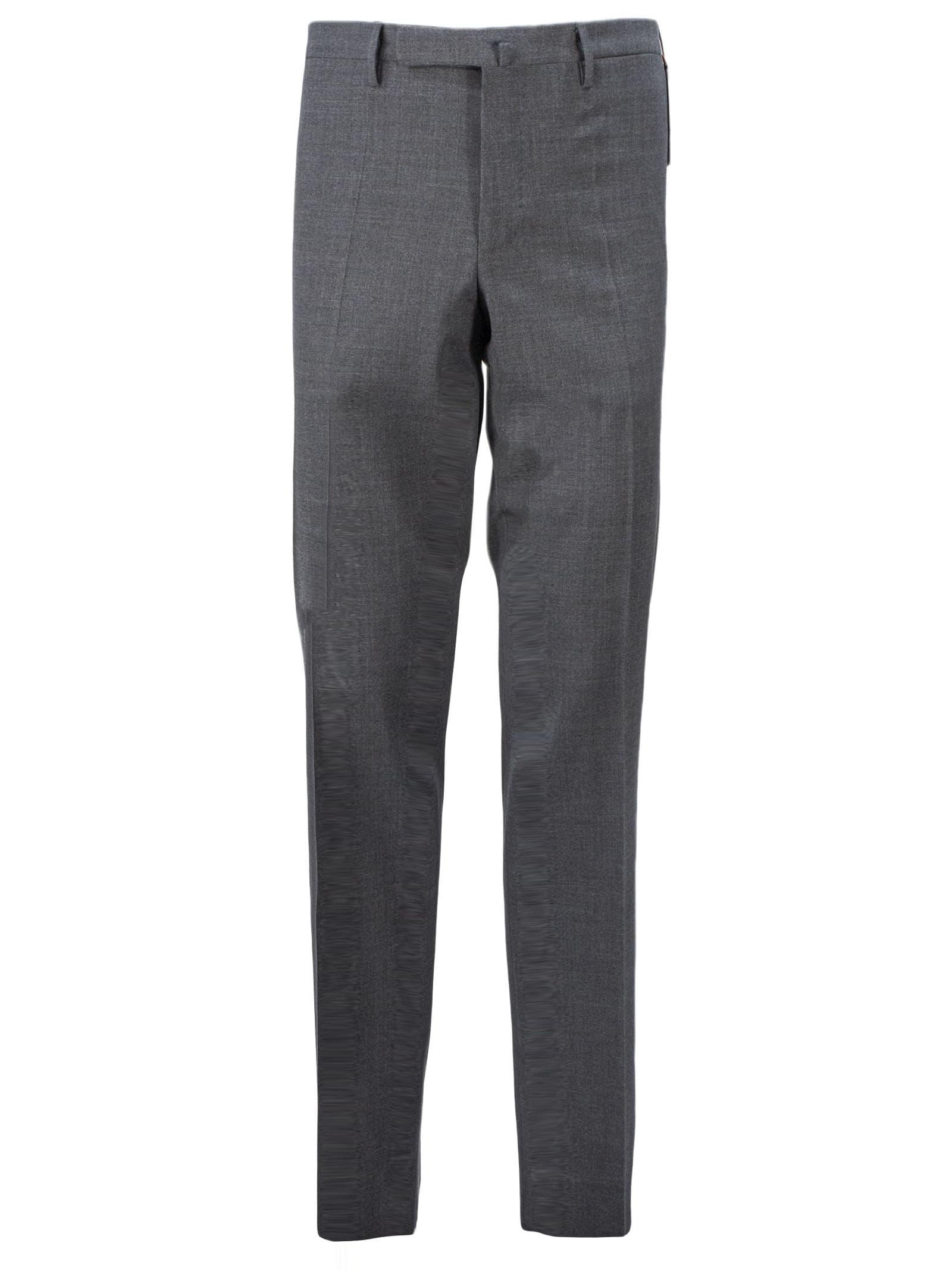Incotex Grey Wool Blend Trousers