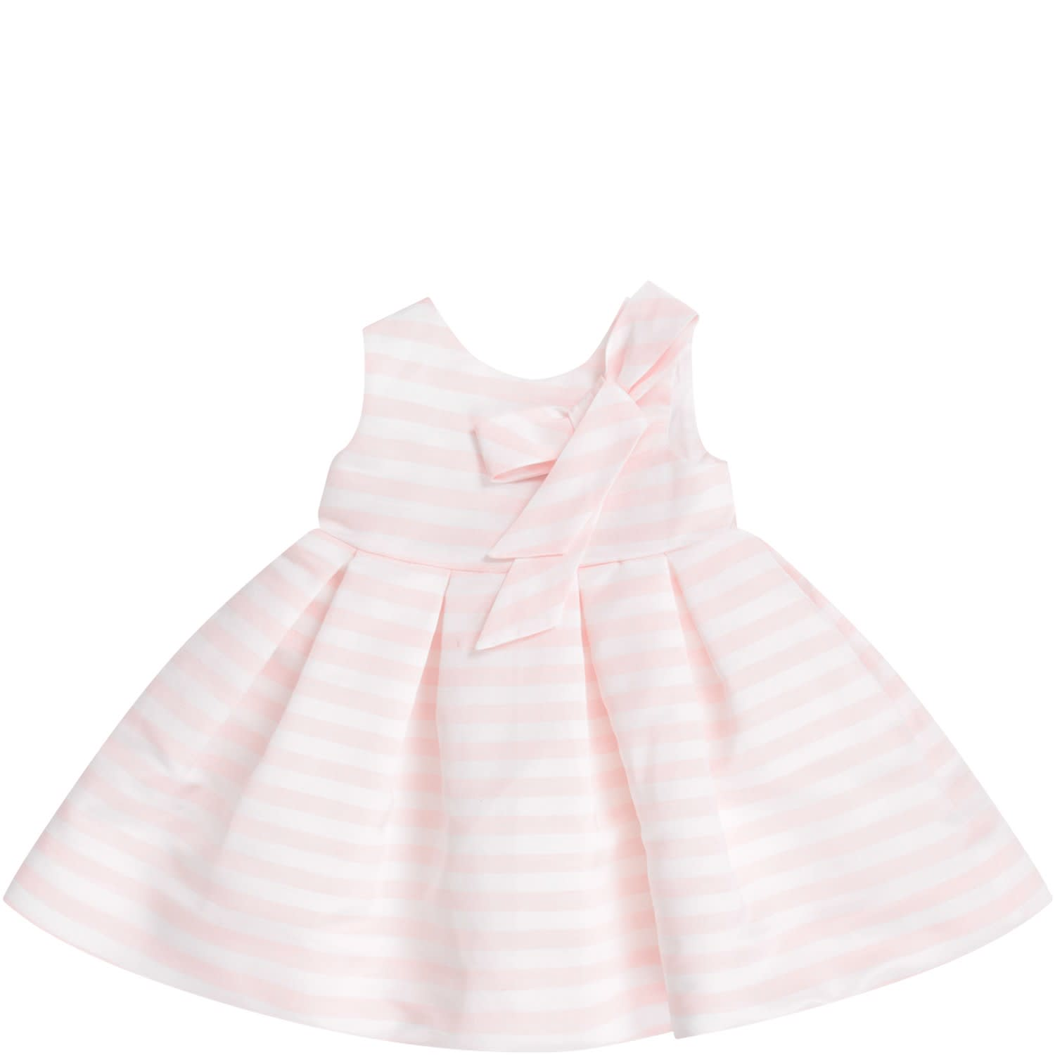 Little Bear White And Pink Babygirl Dress With Bow