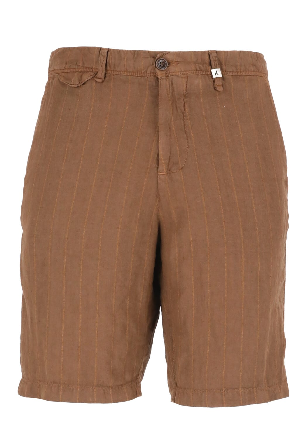 Striped Linen Bermuda Short