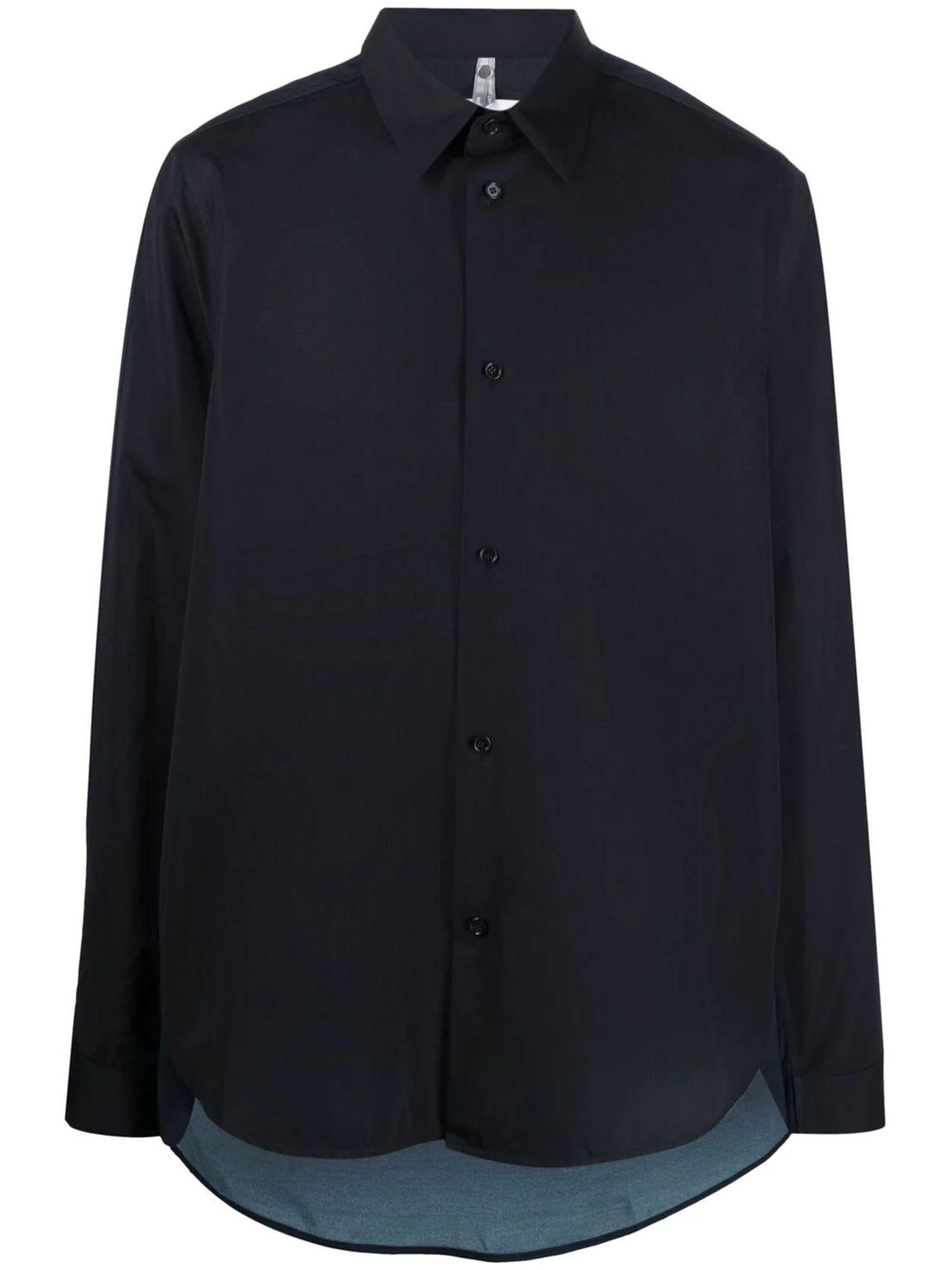 Oamc Shirts BLACK COTTON SHIRT