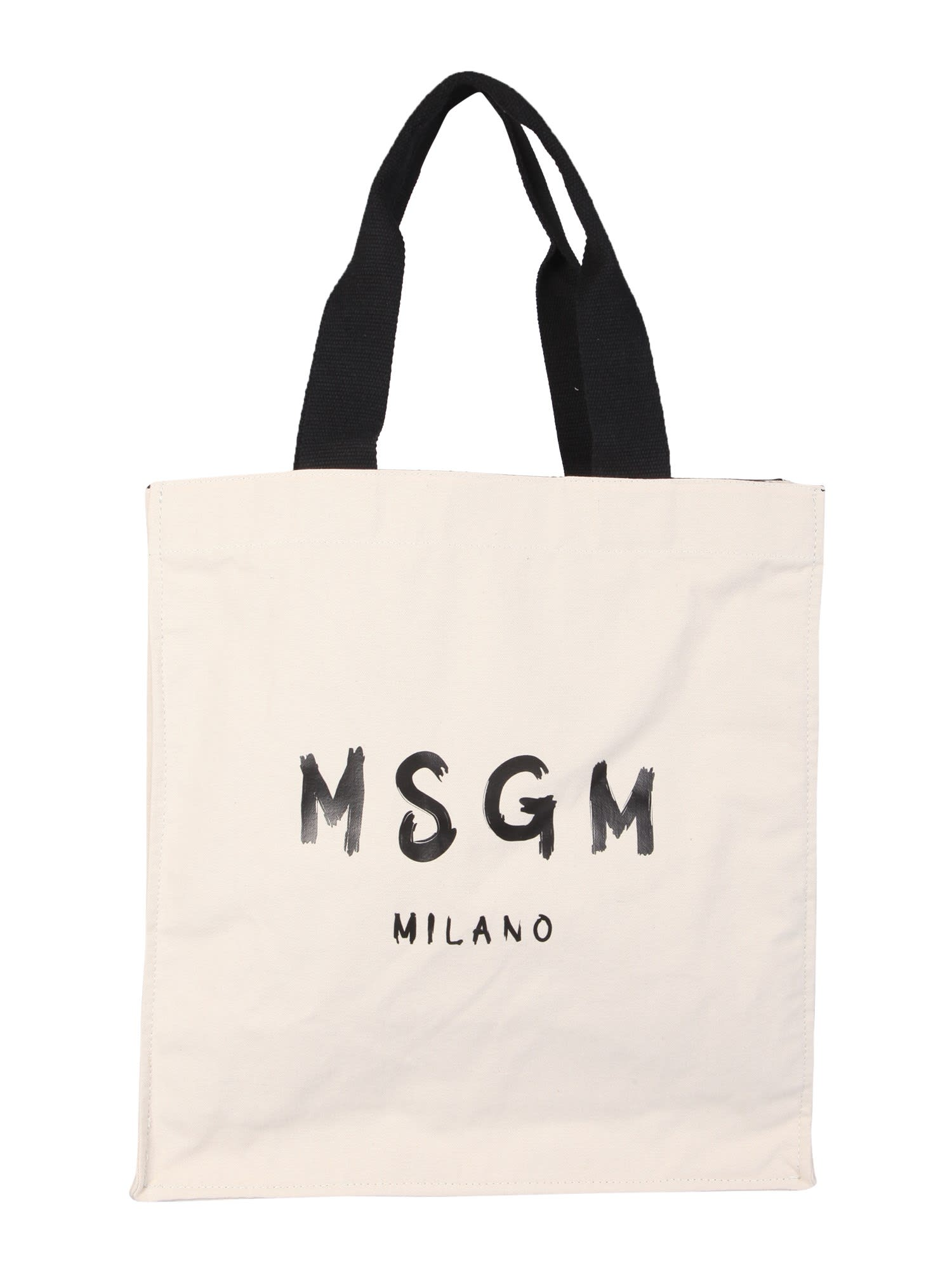 Msgm Totes TOTE BAG WITH BRUSHED LOGO