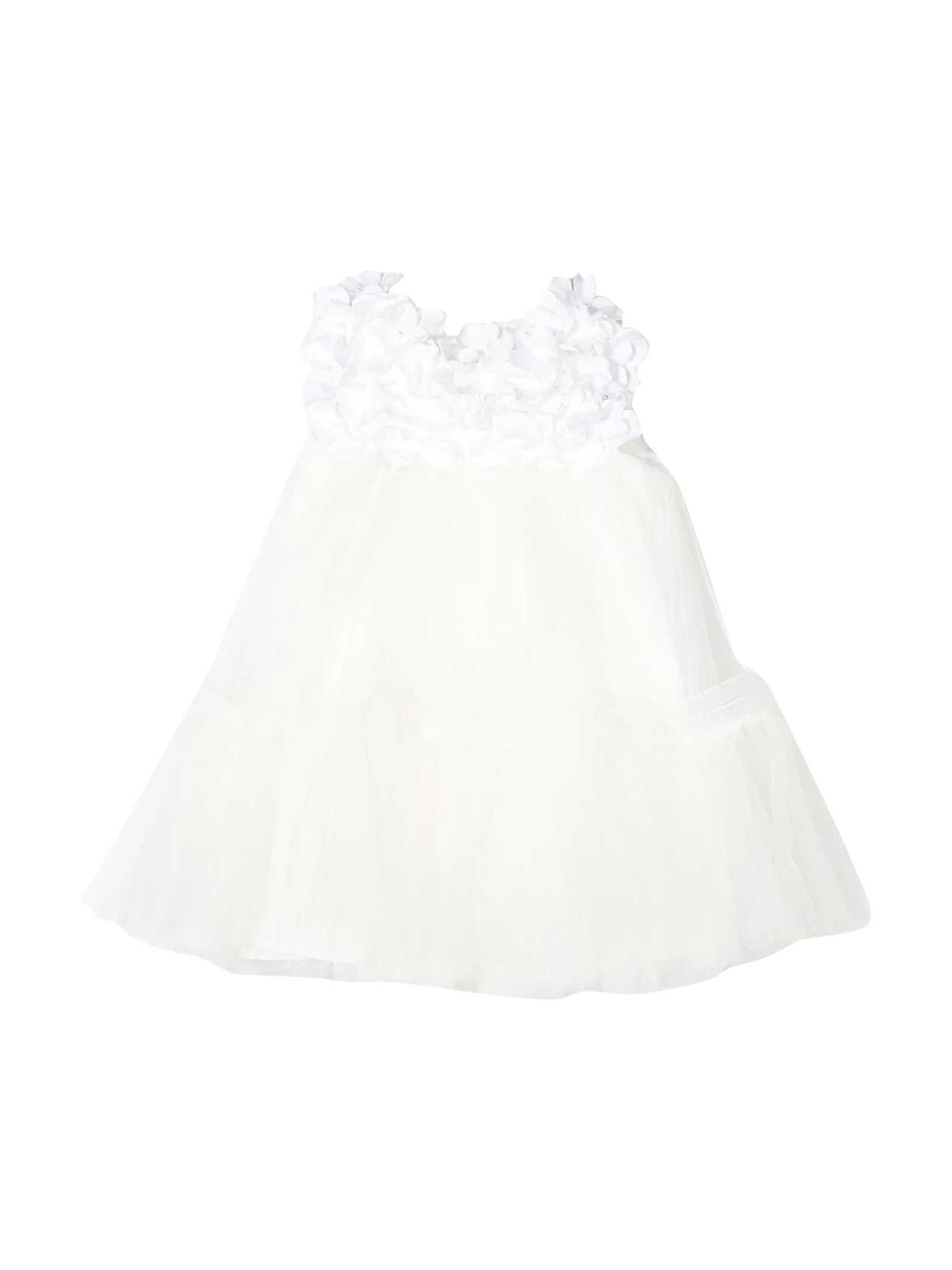 White Dress With Blend Decoration