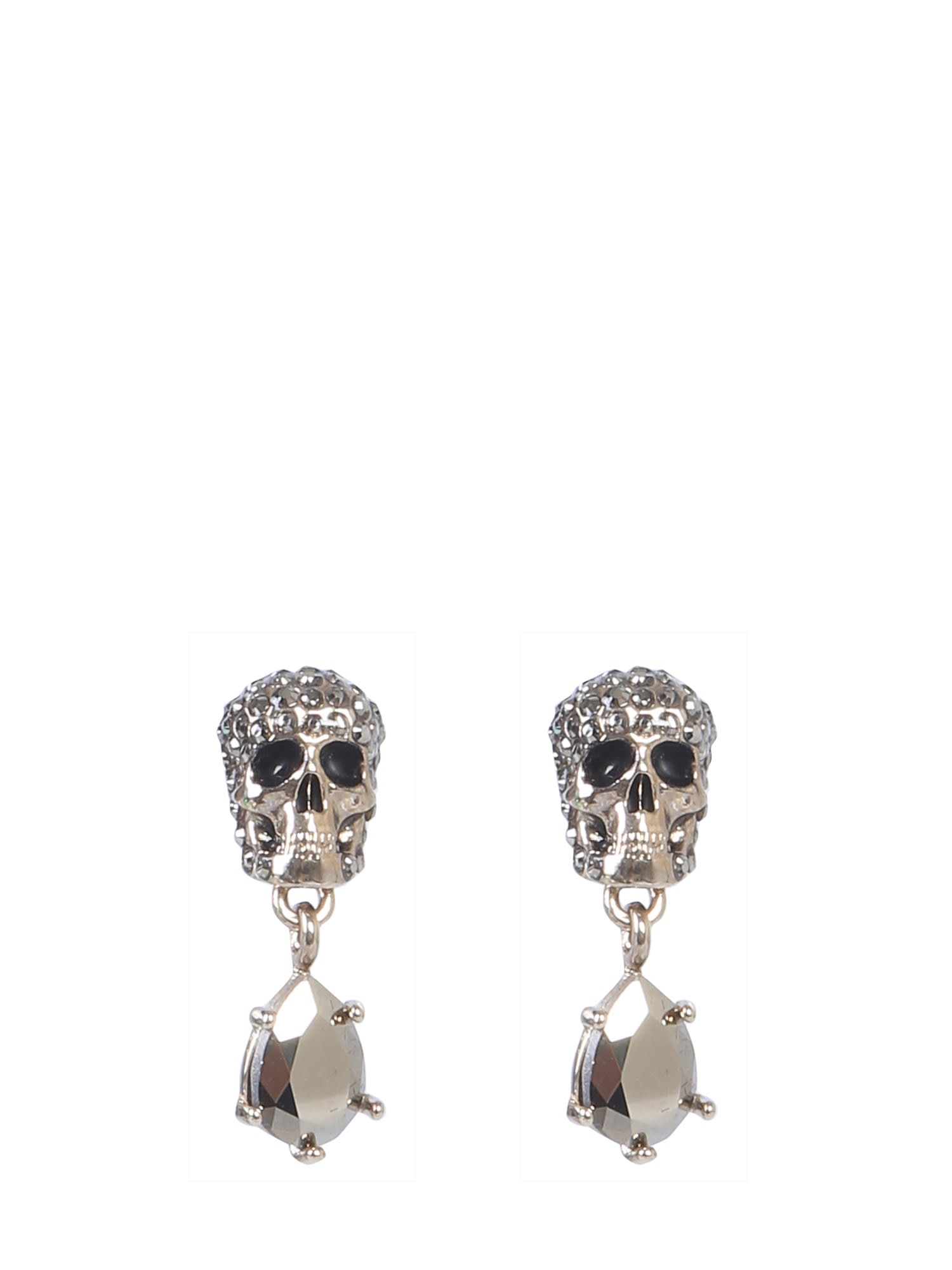 Alexander McQueen Skull Earrings With Stones