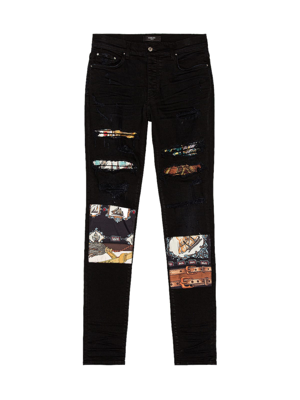 AMIRI SCARVES ART PATCH JEAN